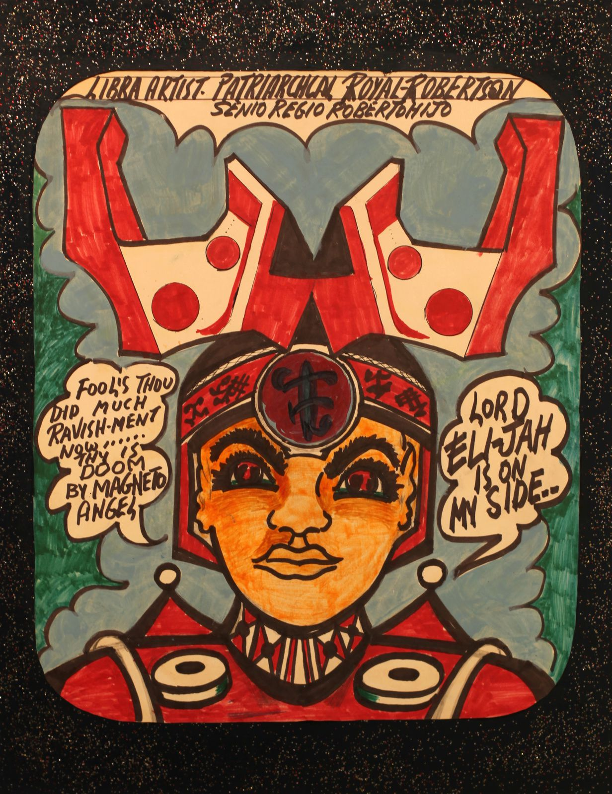 """Sans titre"", 1987 de Prophet Royal ROBERTSON - Courtesy Christian BERST Art Brut © Photo Éric Simon"
