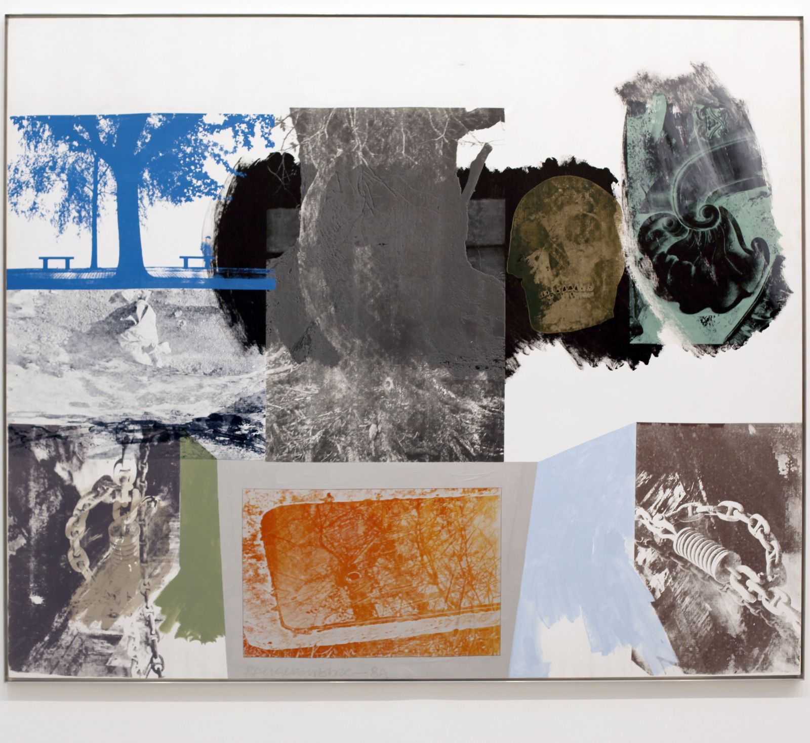 """Untitled (Salvage)"", 1985 de Robert RAUSCHENBERG - Courtesy Galerie Thaddaeus ROPAC © Éric Simon"