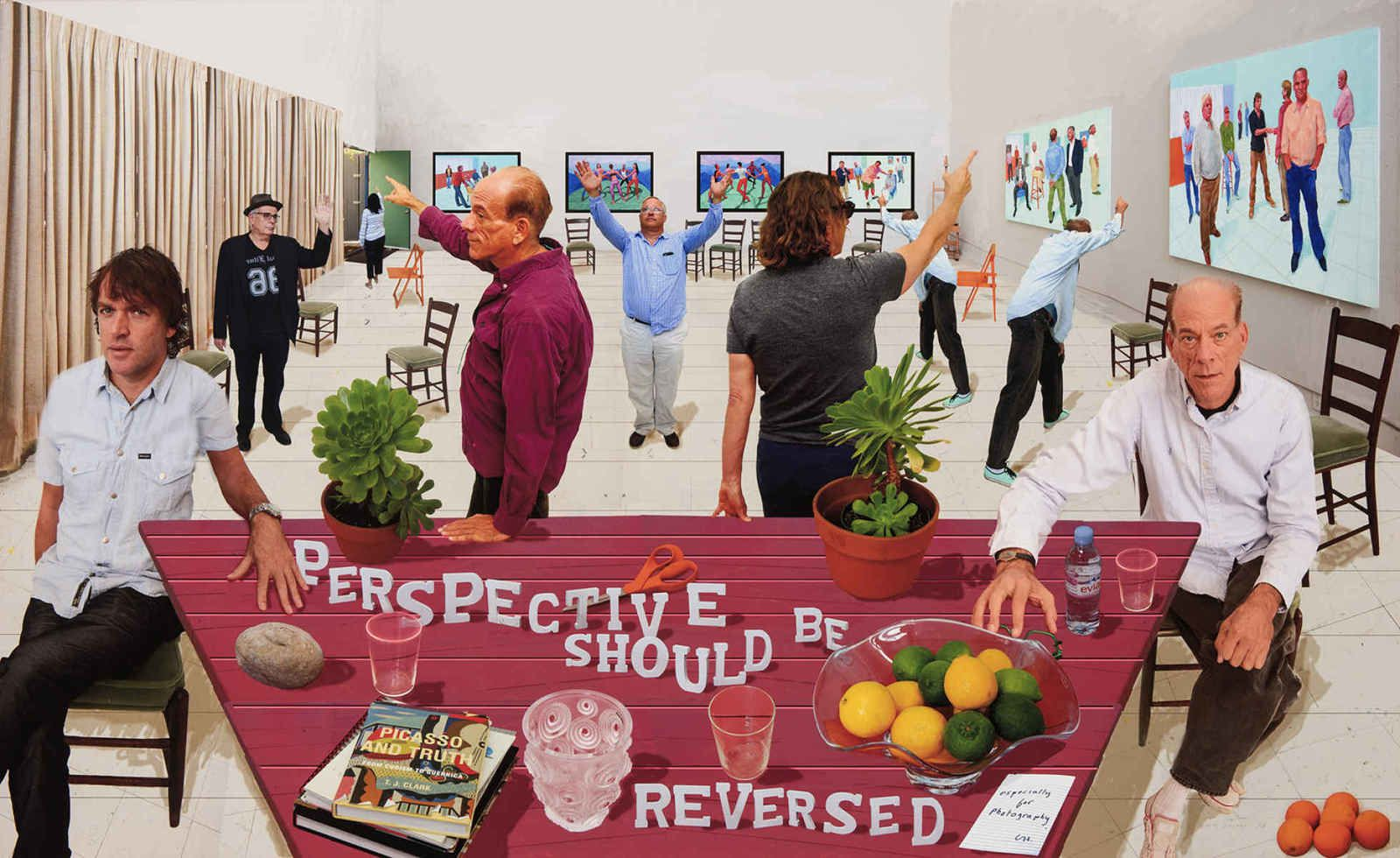 """Perspective Should Be Reversed"" de David HOCKNEY"