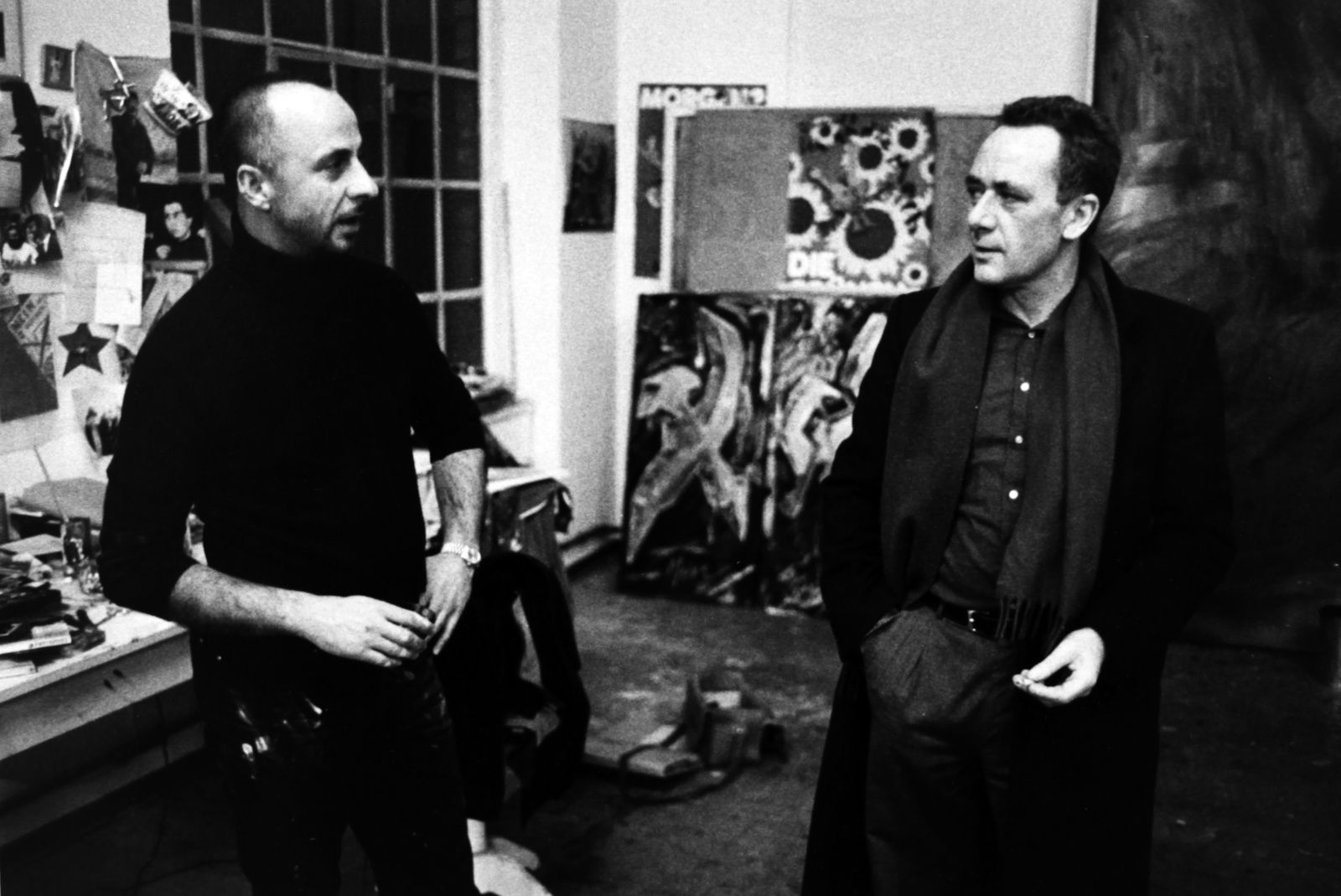 Jörg IMMENDORFF et Gerhard RICHTER - Courtesy SUZANNE TARASIEVE PARIS  © Photo Éric Simon