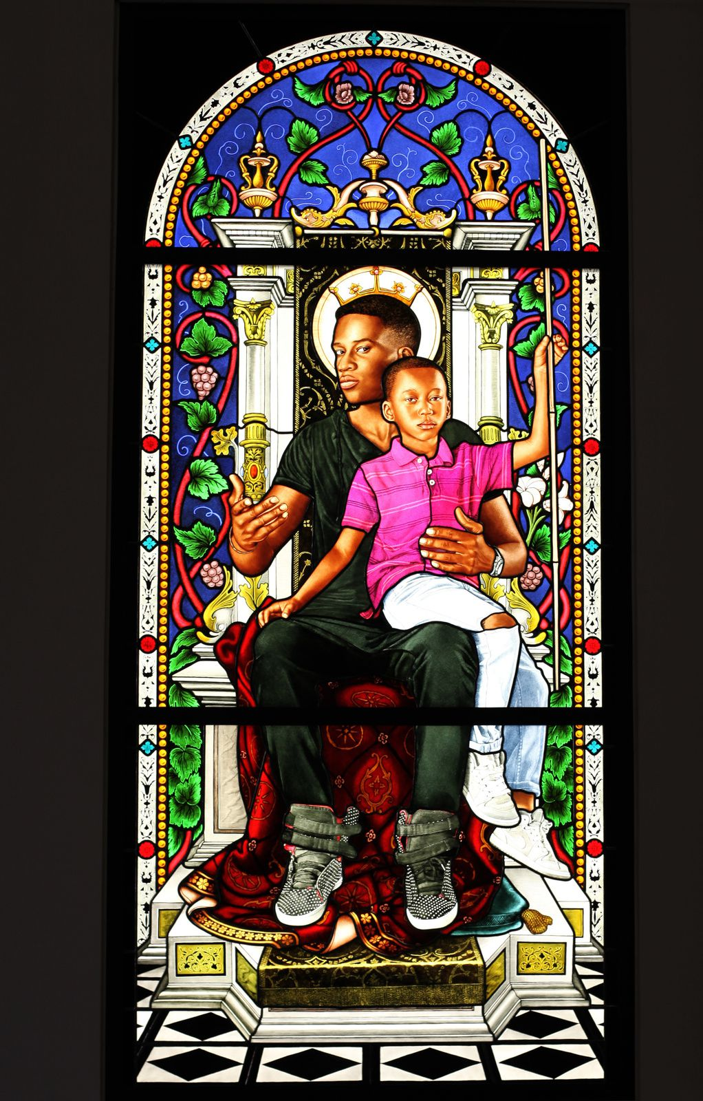 "Série Lamentation""St Mary"", 2016 de Kehinde WILEY - Courtesy Galerie Templon © Photo Éric Simon"