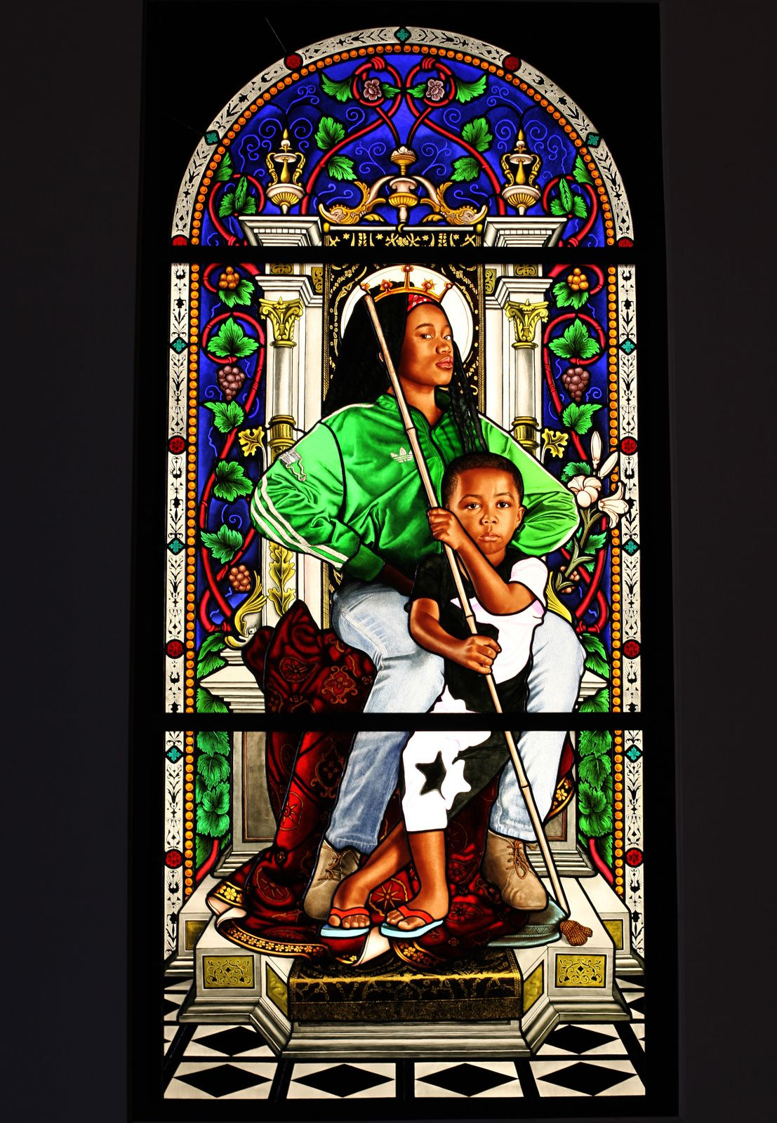 "Série Lamentation""Madonna and Child"", 2016 de Kehinde WILEY - Courtesy Galerie Templon © Photo Éric Simon"