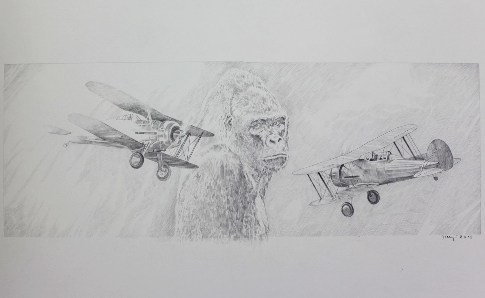 """Etude King Kong"", 2015 de Hervé HEUZÉ - Courtesy Galerie Richard © Photo Éric Simon"