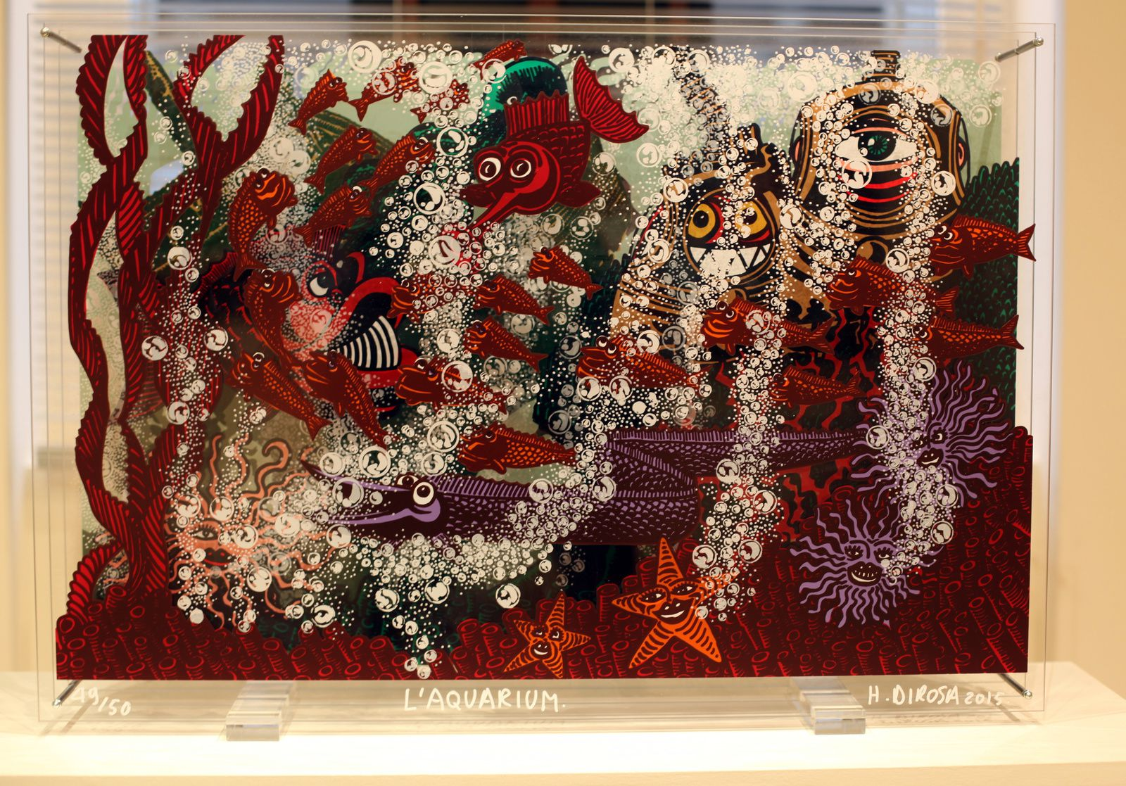 """L'Aquarium"", 2015 de Hervé Di Rosa - Courtesy Galerie Louis Carré & Cie - Photo Éric Simon"