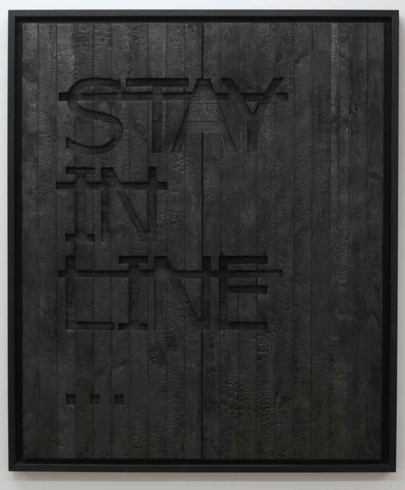 """Sans titre (Stay in Line...),  2016 de RERO - Courtesy BACKSLASH Gallery © Photo Éric Simon"