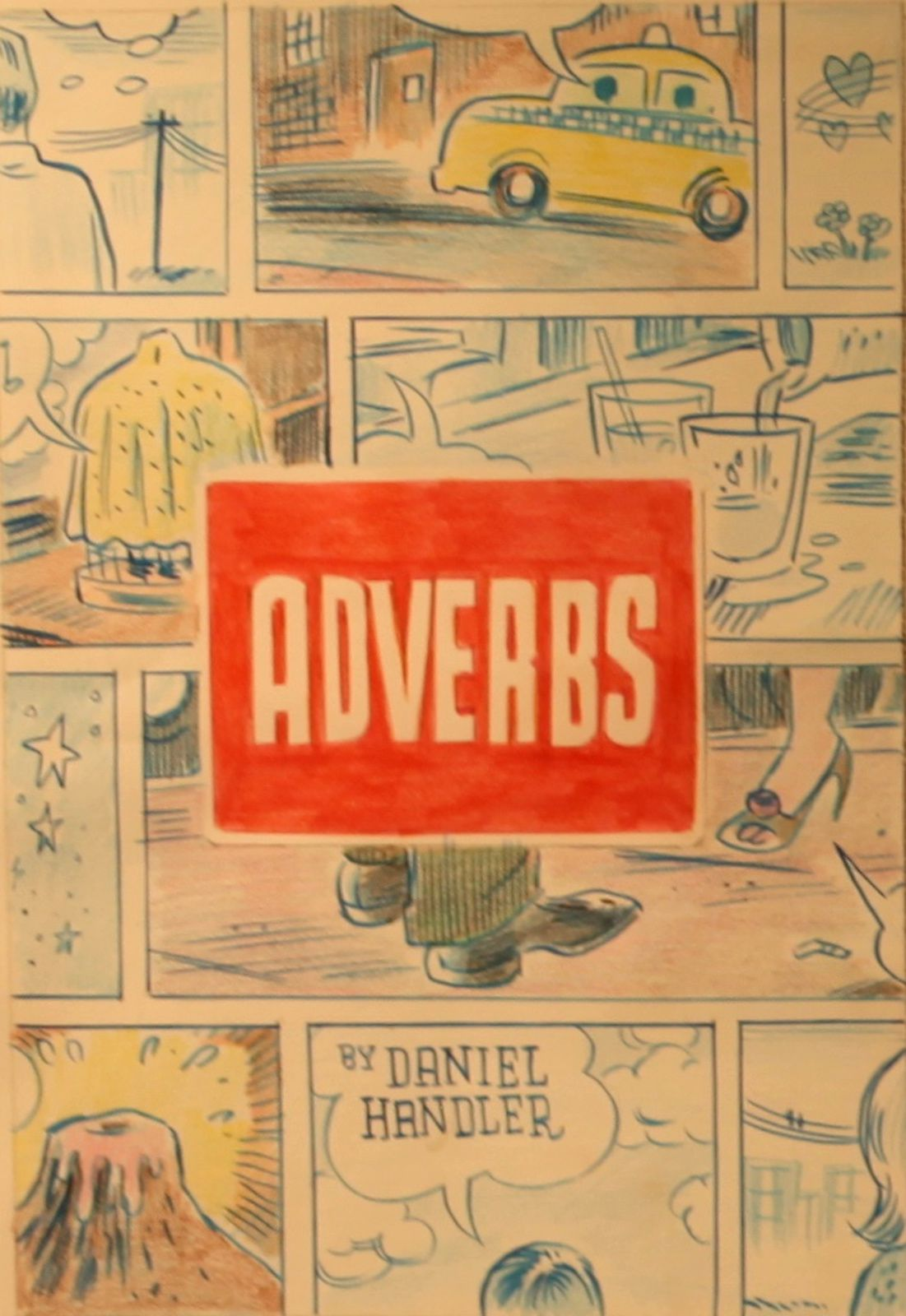 """Adverbs - Color Sketch for Daniel Handler novel cover"", 2005 de Daniel CLOWES - Courtesy Galerie Martel © Photo Éric Simon"