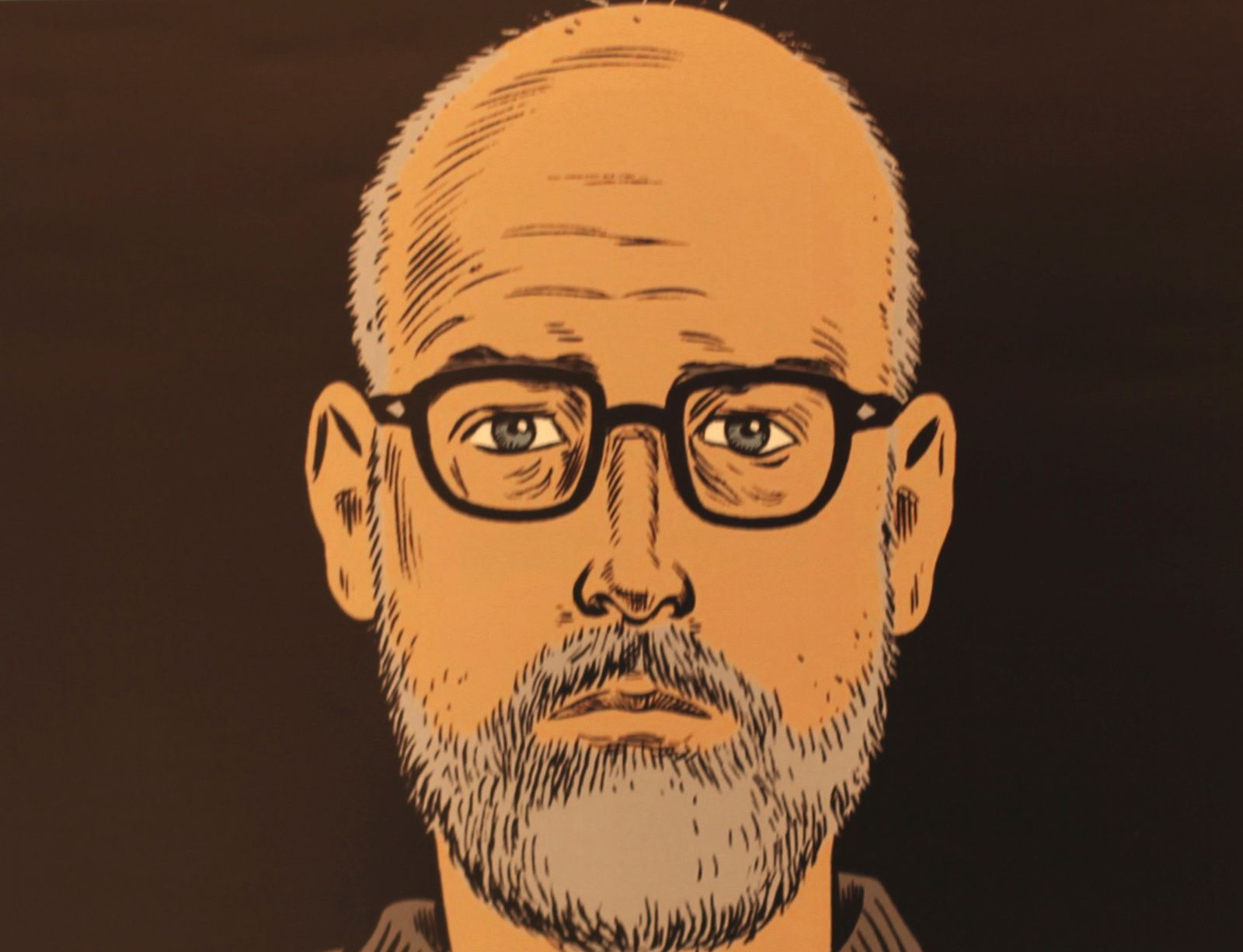 Autoportrait  de Daniel CLOWES - Courtesy Galerie Martel © Photo Éric Simon