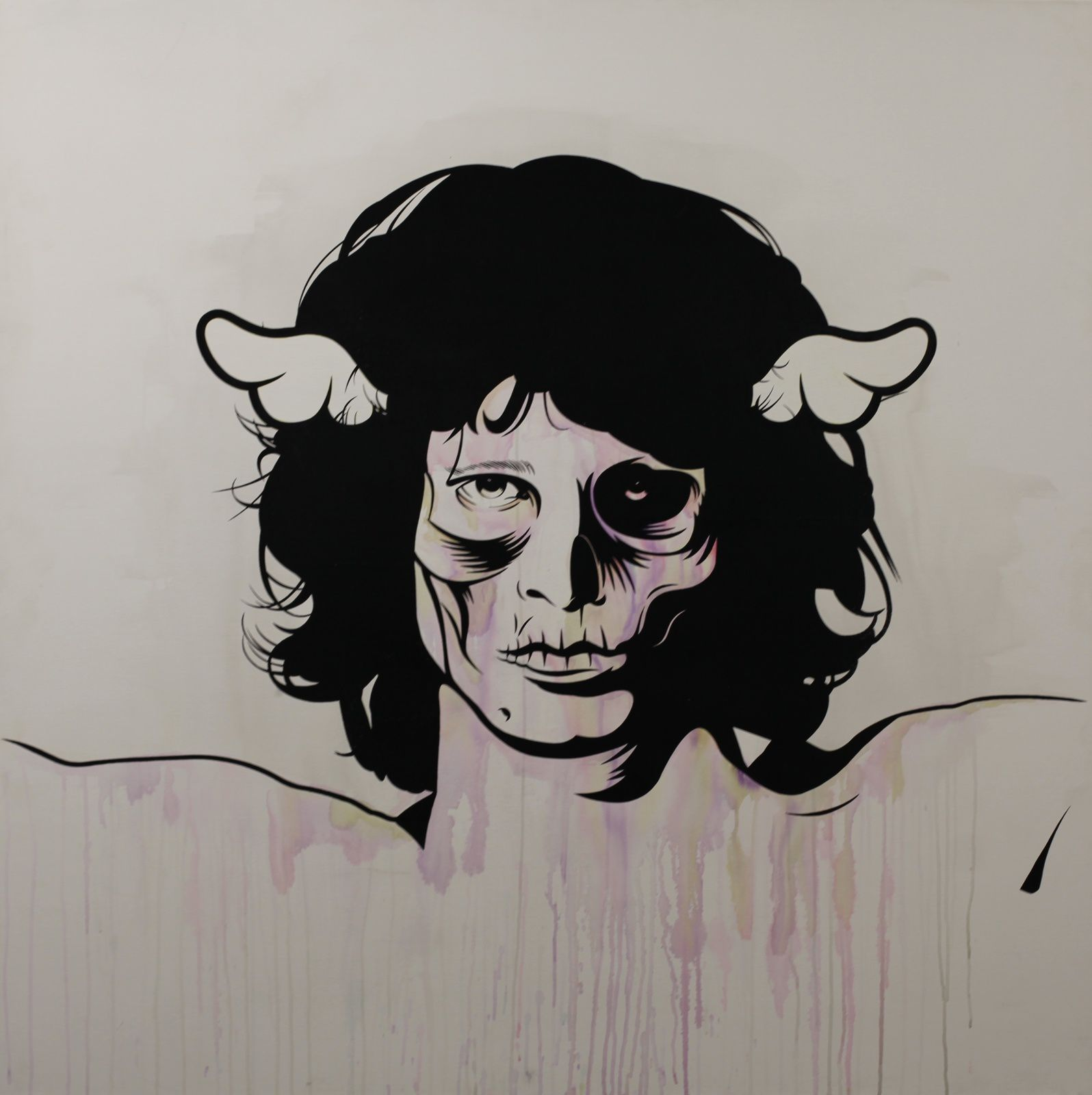 """Jim Morrison"" de D*Face - Courtesy Galerie Itinerrance © Photo Éric Simon"