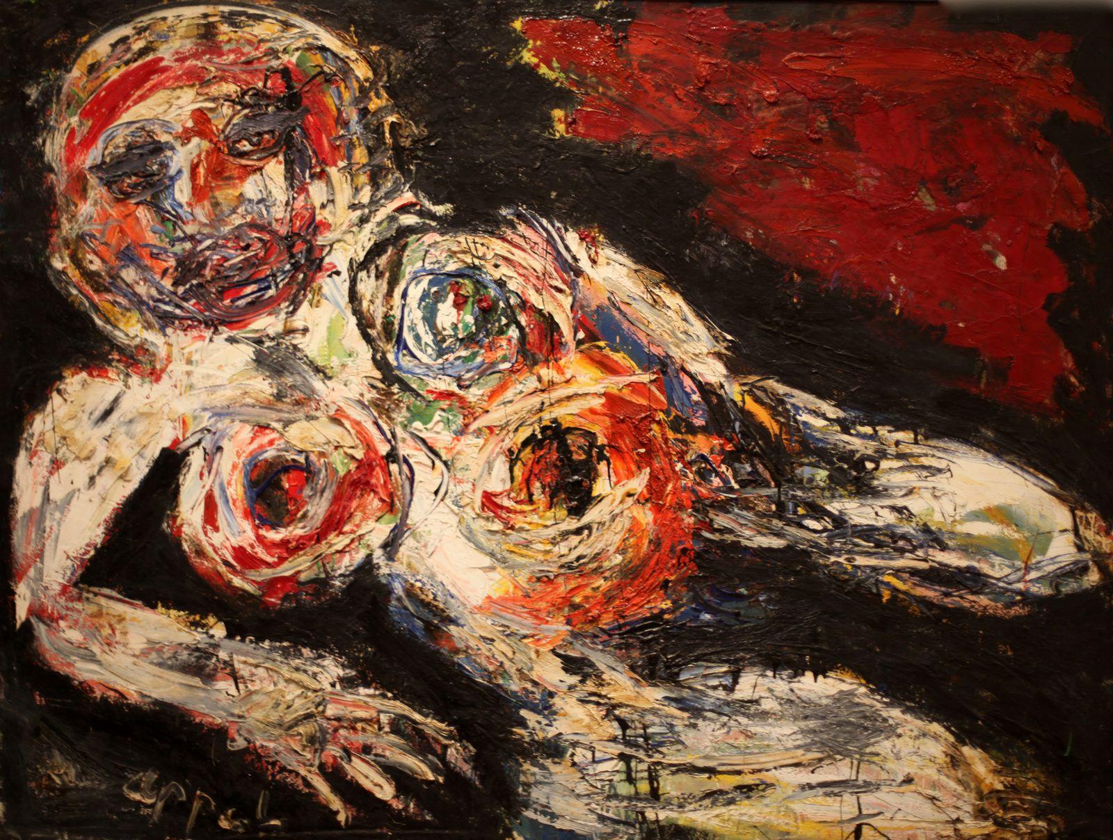 """""""Nu Blessé"""", 1959  de Karel APPEL - Courtesy MAM © Photo Éric Simon"""