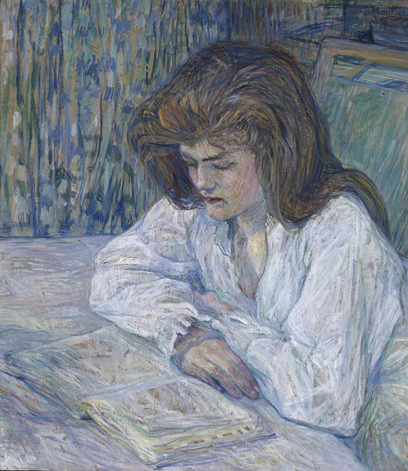 """La Liseuse"", 1889 de Henri de Toulouse-Lautrec - Courtesy Collection Alicia KOPLOWITZ - Grupo Omega Capital"