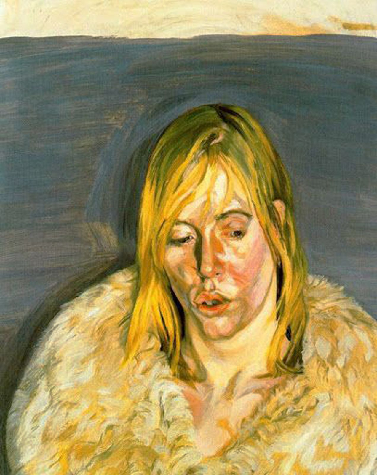 """Fille au mlanteau de fourrure"", 1967 de Lucian Freud - Courtesy Collection Alicia KOPLOWITZ - Grupo Omega Capital"