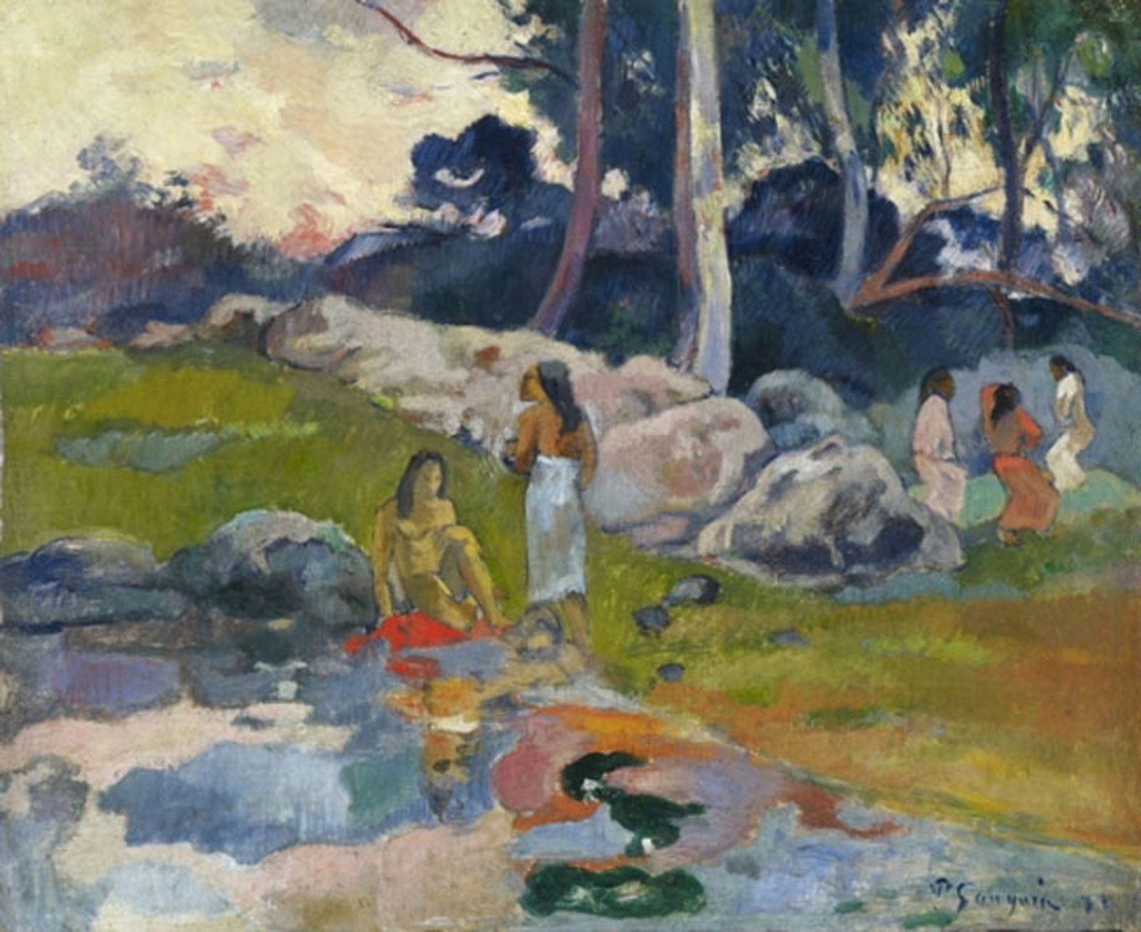 """Femmes au bord de la rivière"", 1892 de Paul Gauguin - Courtesy Collection Alicia KOPLOWITZ - Grupo Omega Capital"