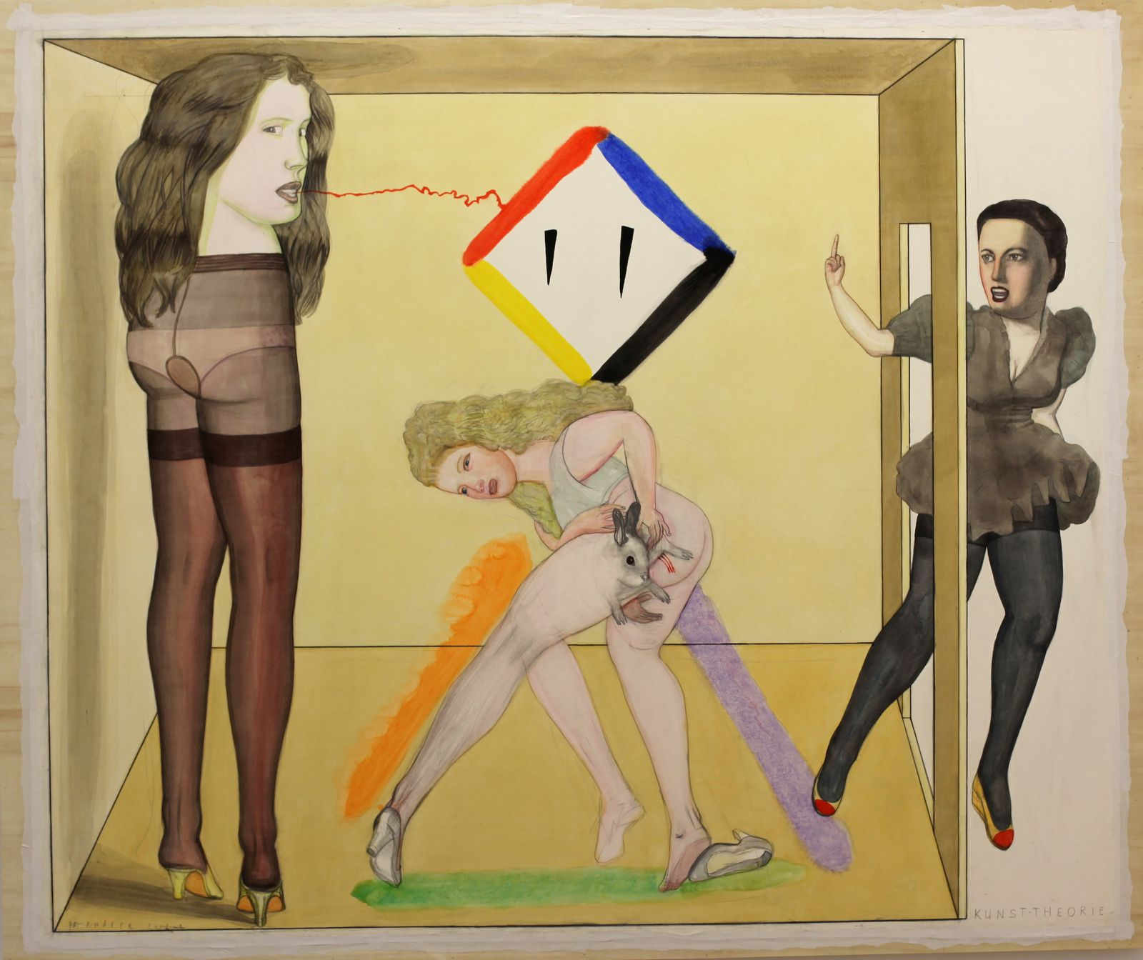 """""""Kunsttheorie"""", 2009 de Pat ANDREA - Courtesy Galerie Laurent Strouk © Photo Éric Simon"""