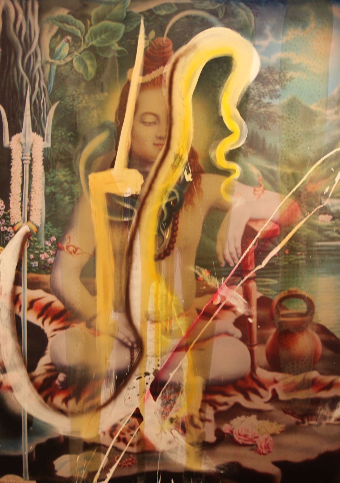 """Untitled (SHIVA)"", 2008 de Julian SCHNABEL - Courtesy Galerie Daniel Templon © Photo Éric Simon"