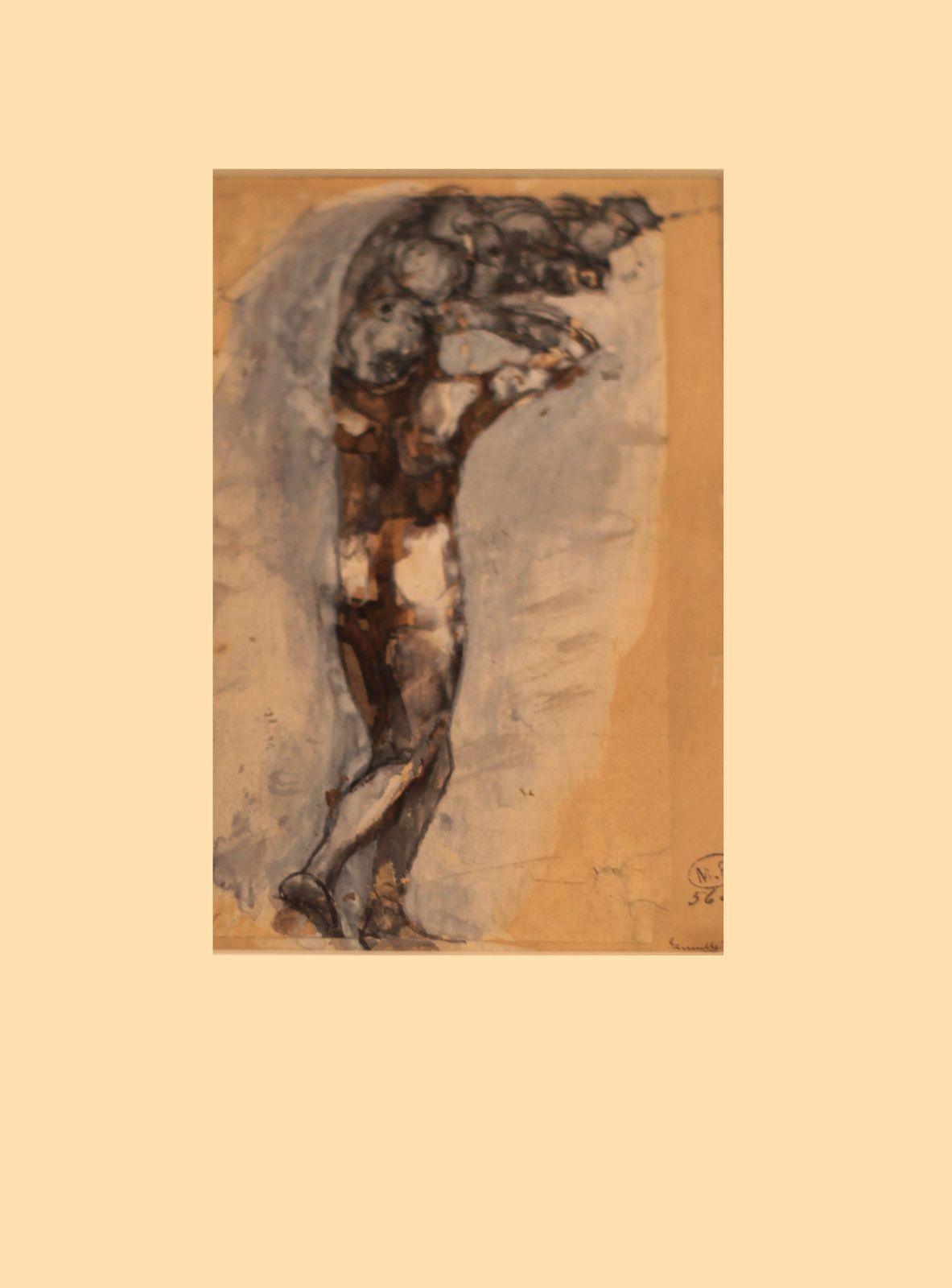 """""""Ombres de femme et d'enfant"""", 1880 de Auguste RODIN - Courtesy Musée RODIN © Photo Éric Simon"""