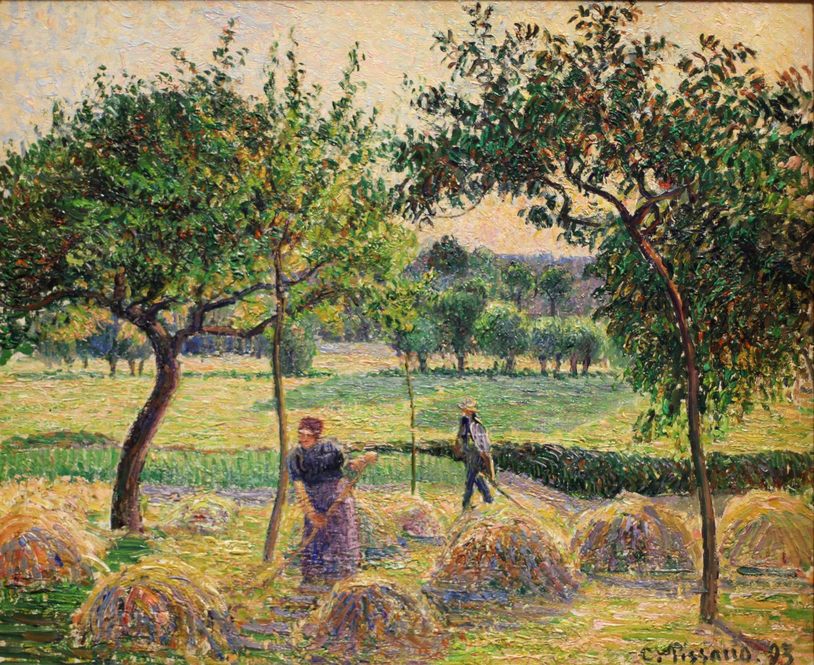 """Fenaison à Éragny"", 1893 de Camille PISSARRO - Courtesy The Israel Museum, Jerusalem © Photo Éric Simon"