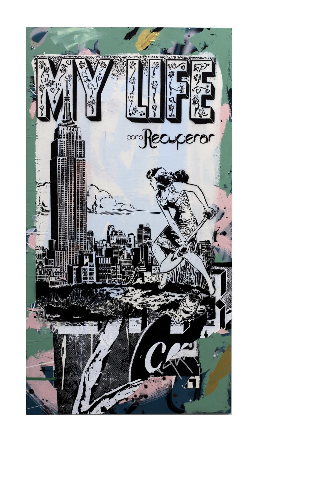"""My Life Currents"", 2016 de FAILE - Courtesy Galerie Magda Danysz © Photo Éric Simon"