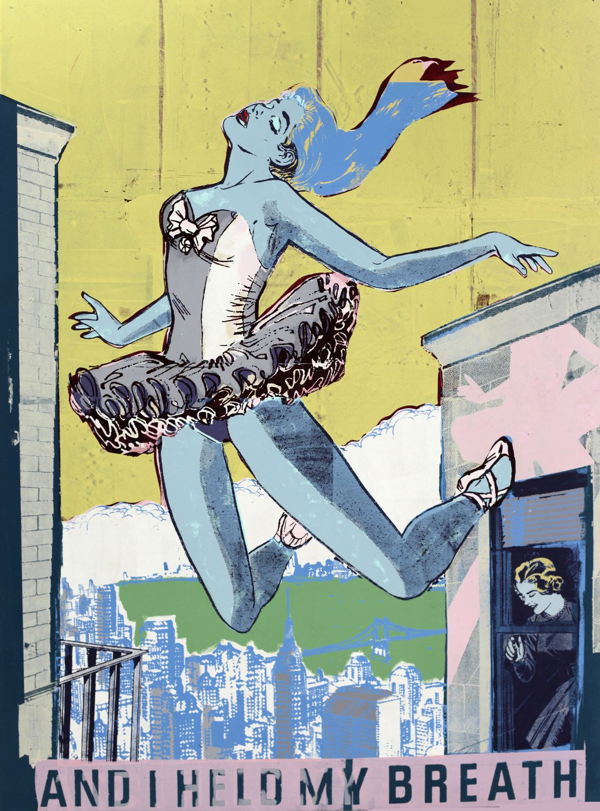 """Held: study in blue"", 2013 de FAILE - Courtesy Galerie Magda Danysz © Photo Éric Simon"