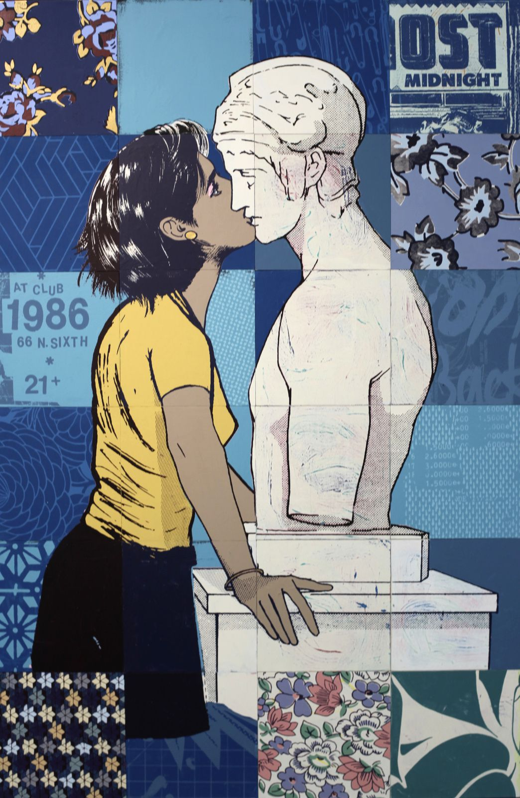 """In worlds between us"", 2017 de FAILE - Courtesy Galerie Magda Danysz © Photo Éric Simon"