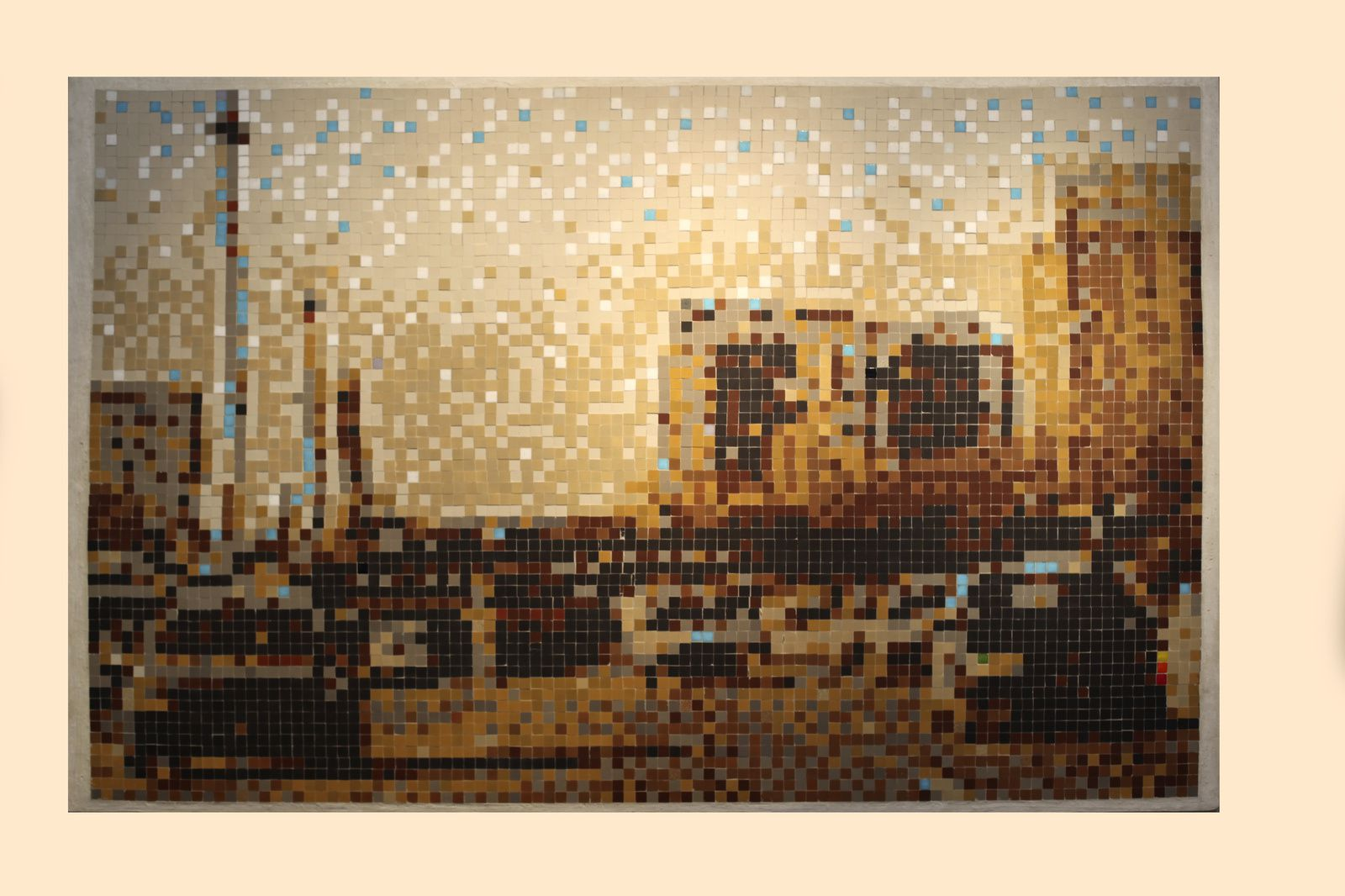 """La route"", 1997 de INVADER - Courtesy Galerie LE FEUVRE © Photo Éric Simon"