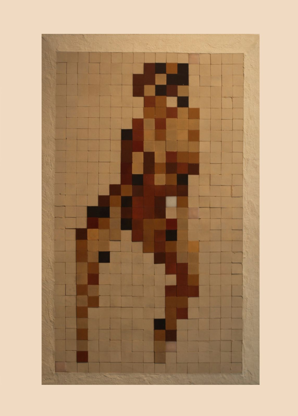 """Asian Naked"", 1997 de INVADER - Courtesy Galerie LE FEUVRE © Photo Éric Simon"
