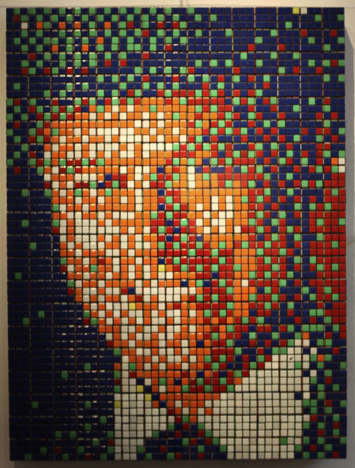 """Rubik' JR"", 2011 de INVADER - Courtesy Galerie LE FEUVRE © Photo Éric Simon"