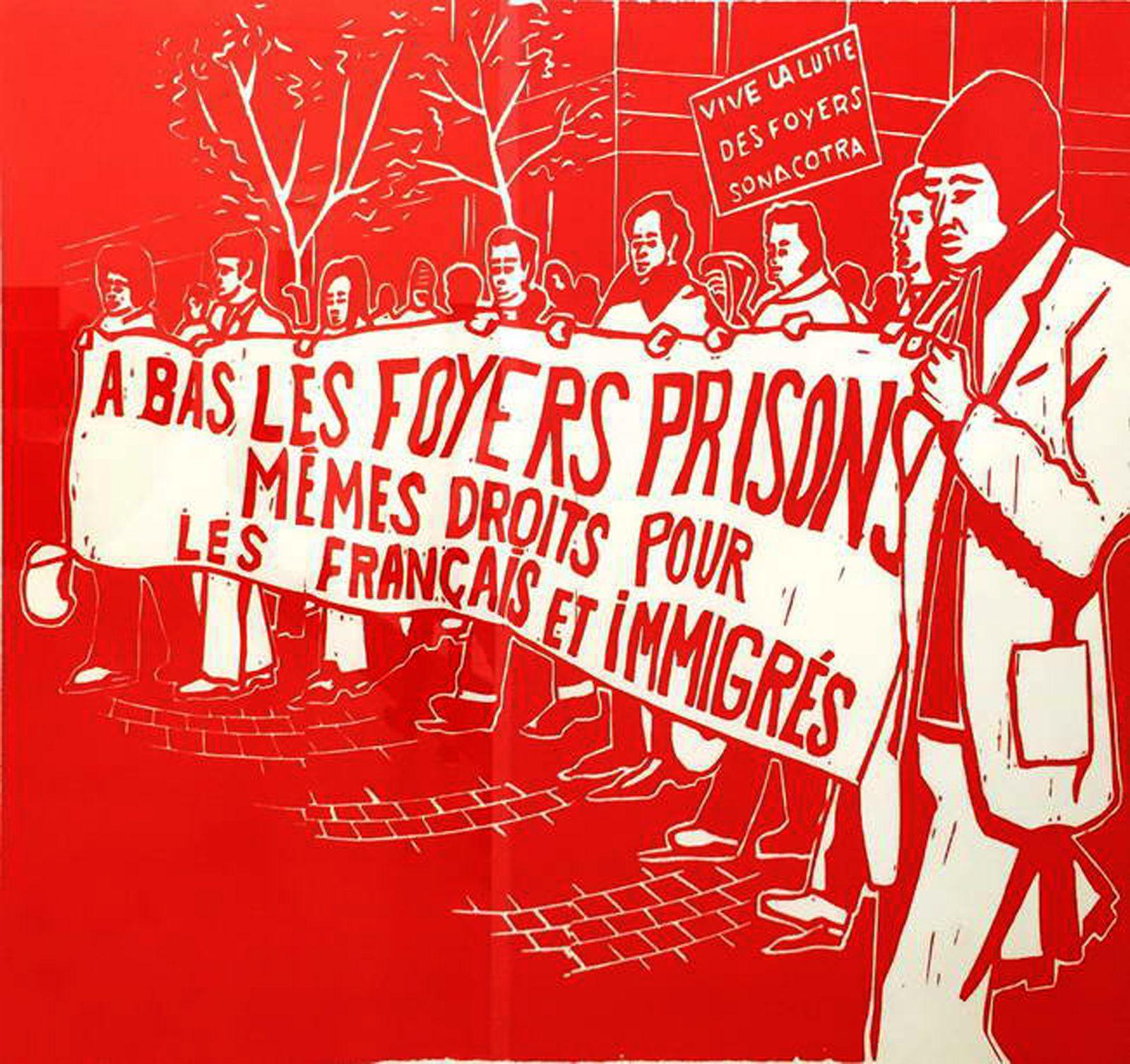 """A bas les foyers prisons"" Affiche anonyme, 1975"
