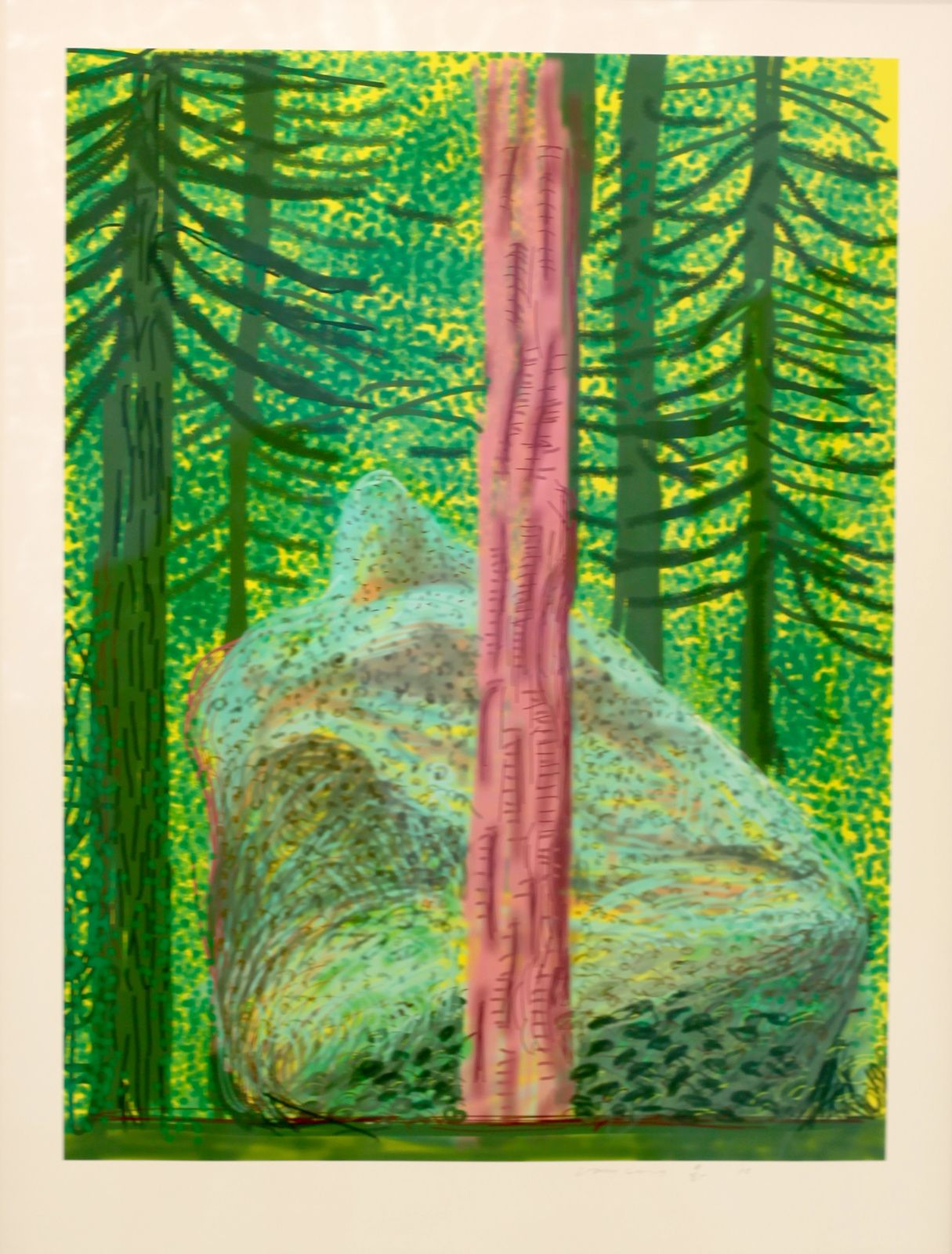 """Untitled N°19 from Yosemite"", 2010 de David HOCKNEY - Courtesy Galerie Lelong © Photo Éric Simon"