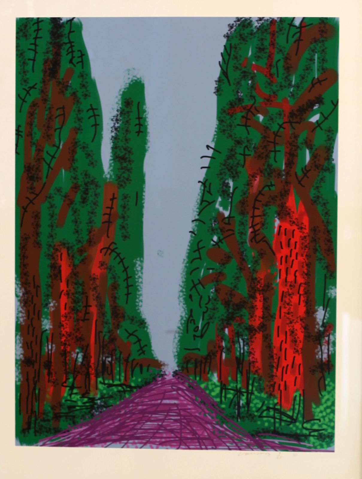 """Untitled N°5 from Yosemite"", 2010 de David HOCKNEY - Courtesy Galerie Lelong © Photo Éric Simon"