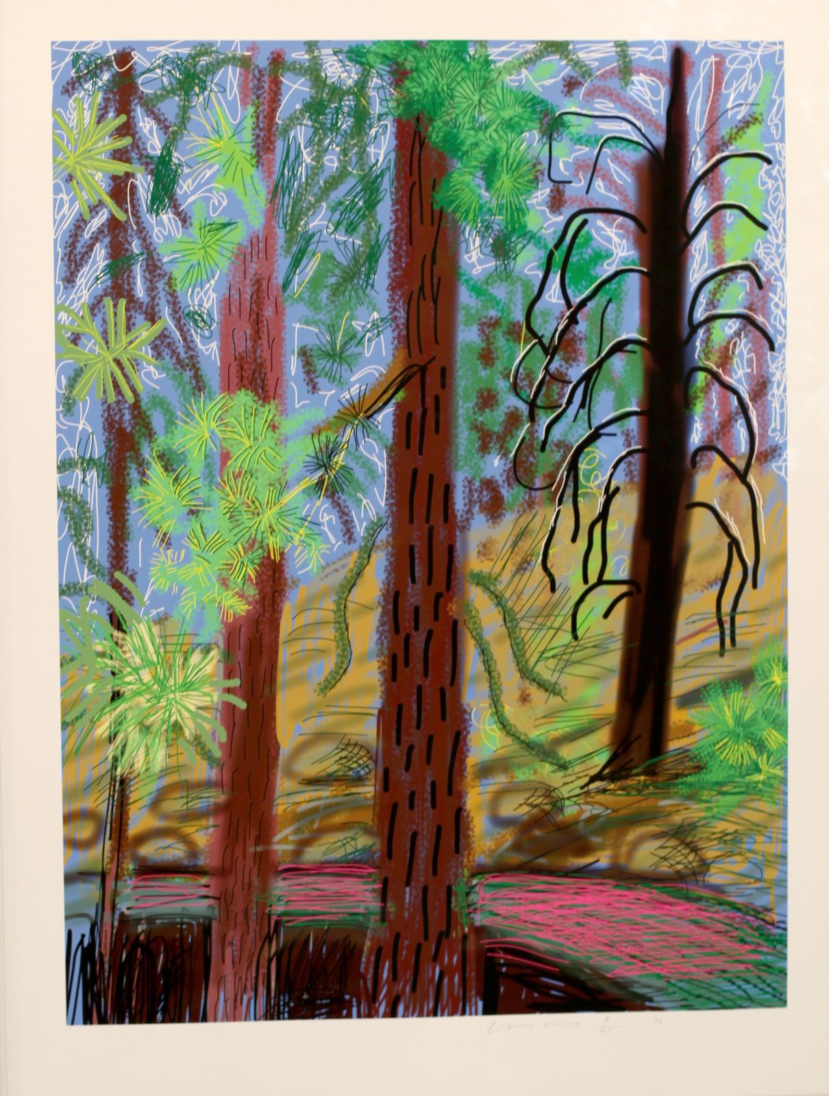 """Untitled N°6 from Yosemite"", 2010 de David HOCKNEY - Courtesy Galerie Lelong © Photo Éric Simon"