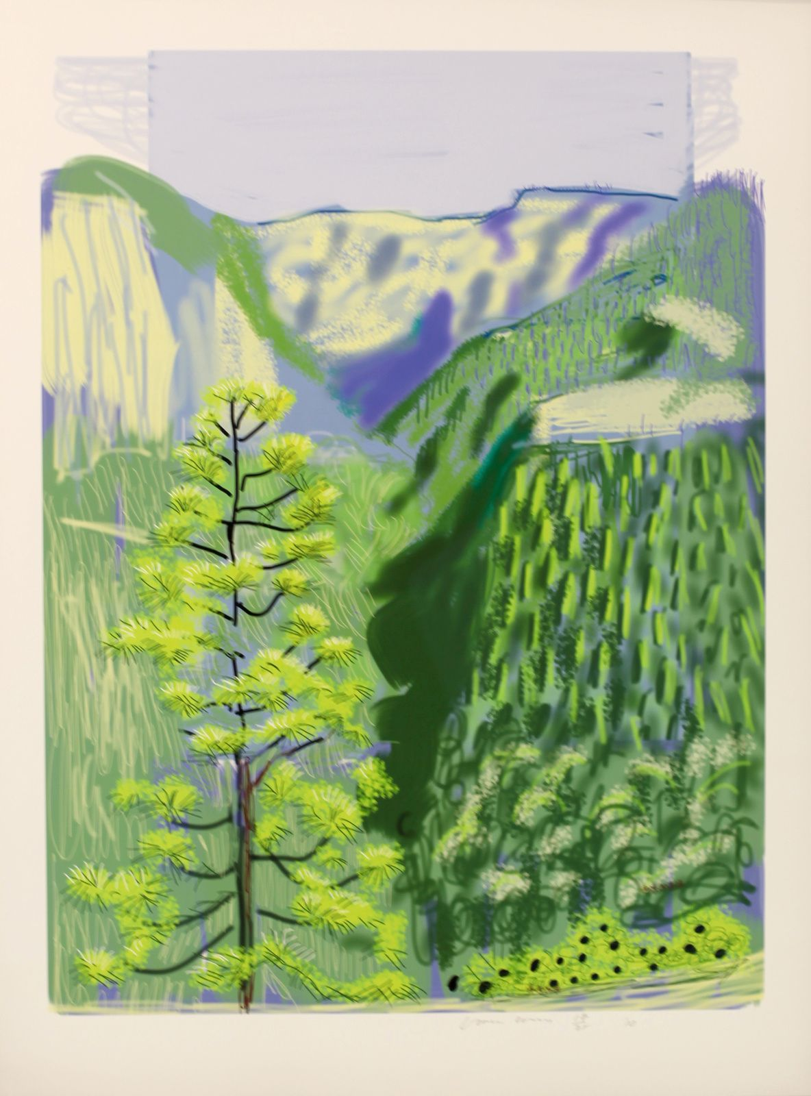 """Untitled N°20 from Yosemite"", 2010 de David HOCKNEY - Courtesy Galerie Lelong © Photo Éric Simon"