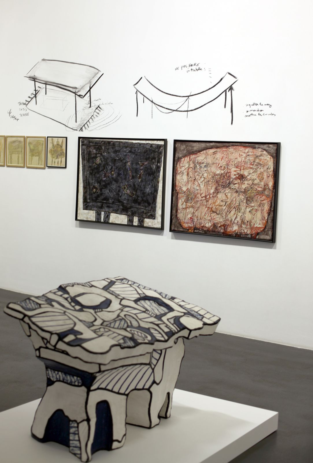 """Table logologique II"", 1969 de Jean DUBUFFET - Courtesy Galerie Nathalie OBADIA © Photo Éric Simon"