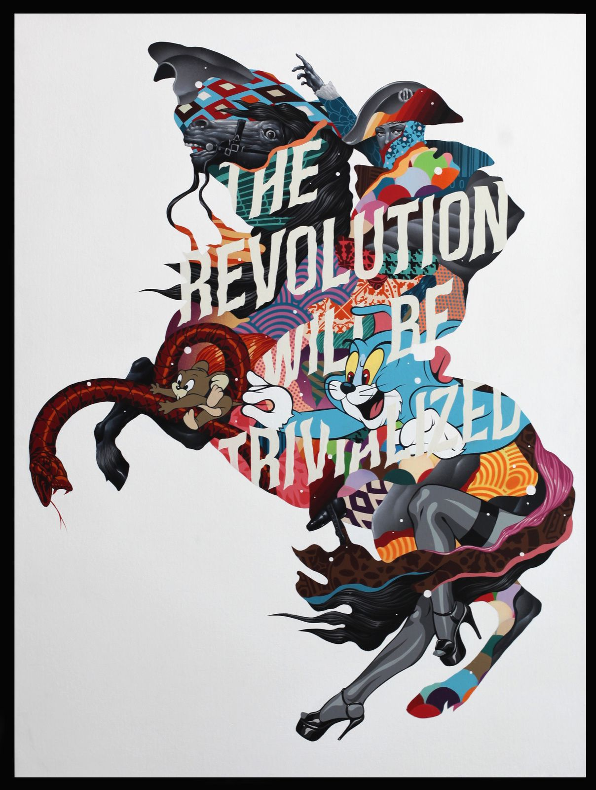"""The Revolution Will Be Trivialized"" de Tristan EATON - Courtesy Galerie Itinerrance © Photo Éric Simon"