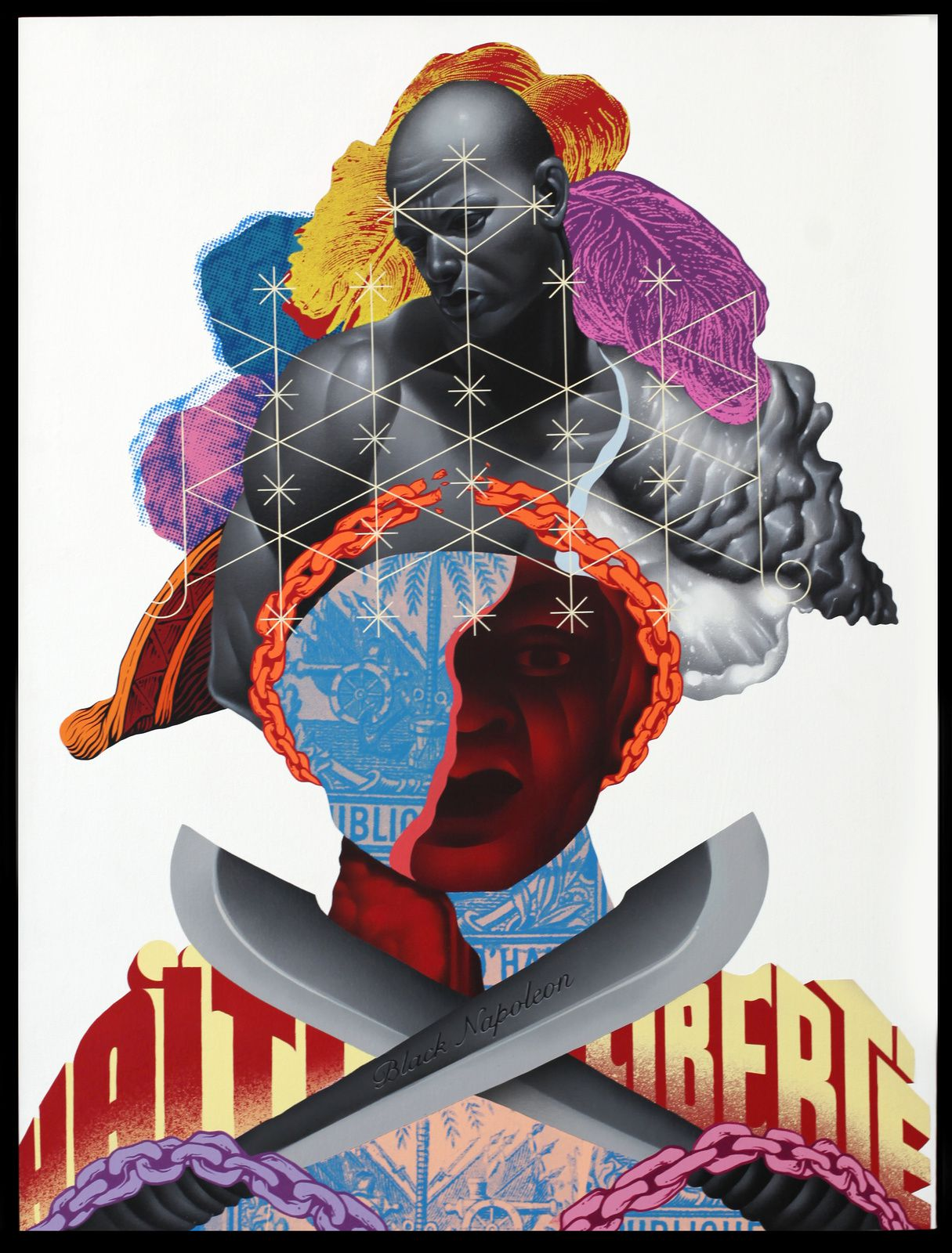 """Black Napoleon"" de Tristan EATON - Courtesy Galerie Itinerrance © Photo Éric Simon"
