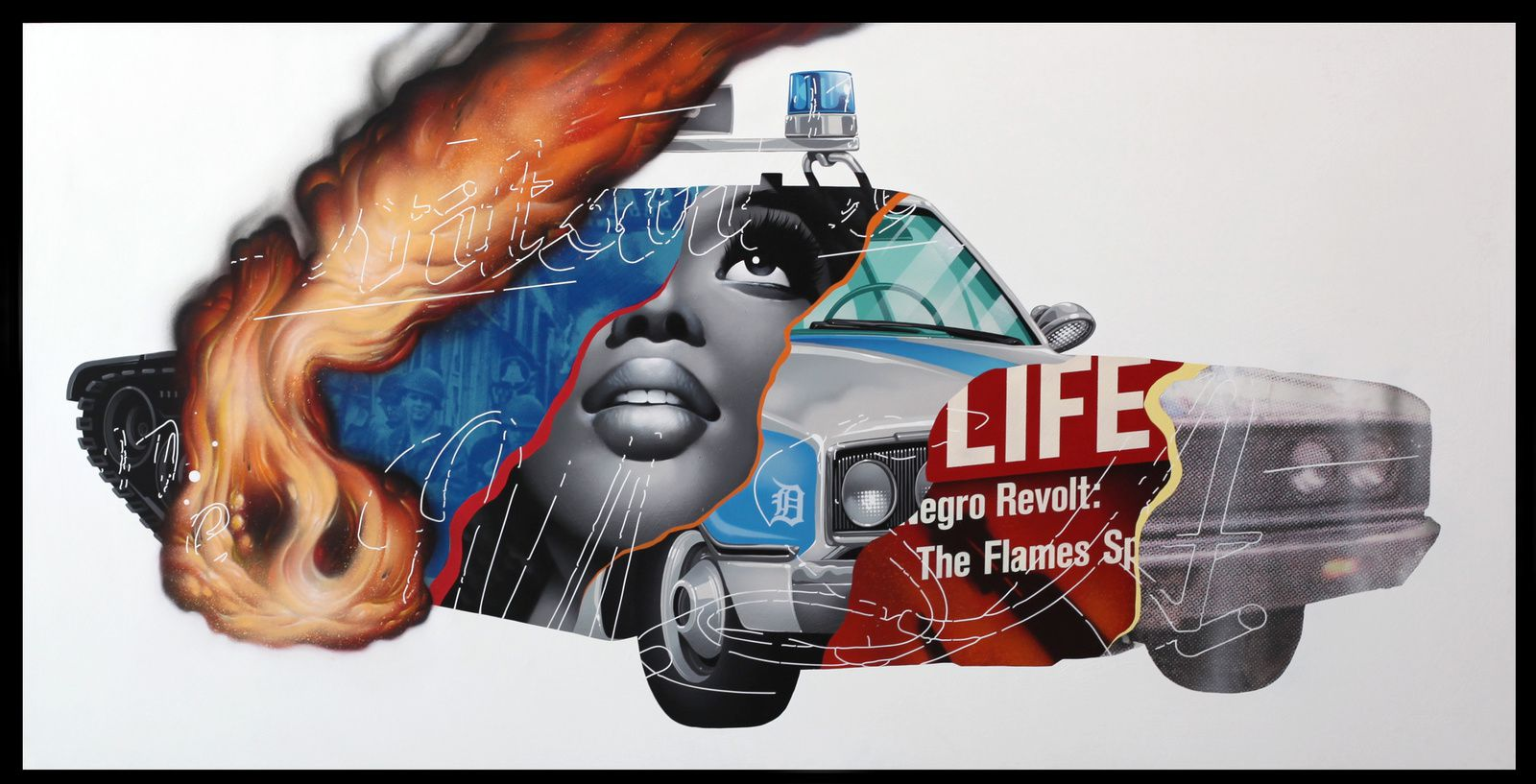 """Detroit Riots"" de Tristan EATON - Courtesy Galerie Itinerrance © Photo Éric Simon"