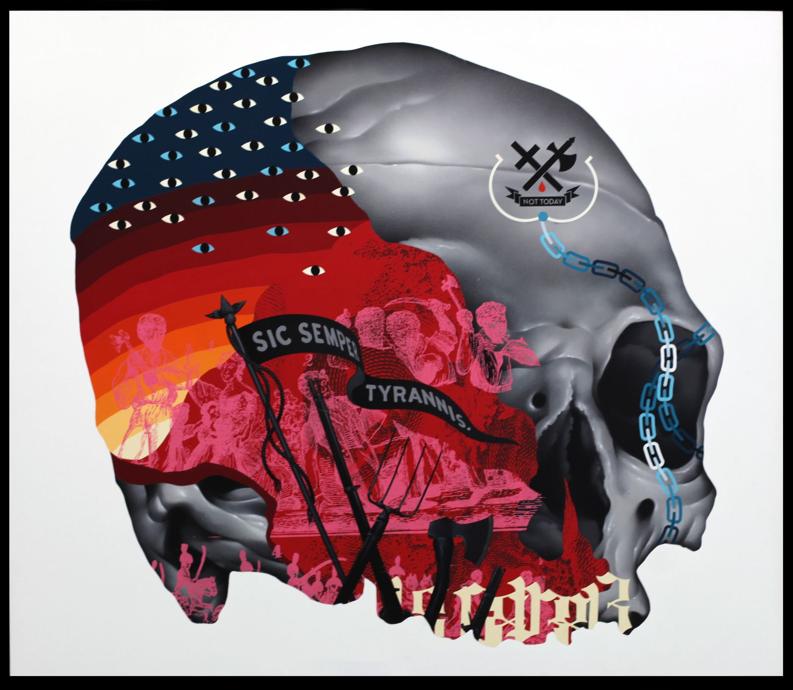 """Nat Turner's Rebellion"" de Tristan EATON - Courtesy Galerie Itinerrance © Photo Éric Simon"