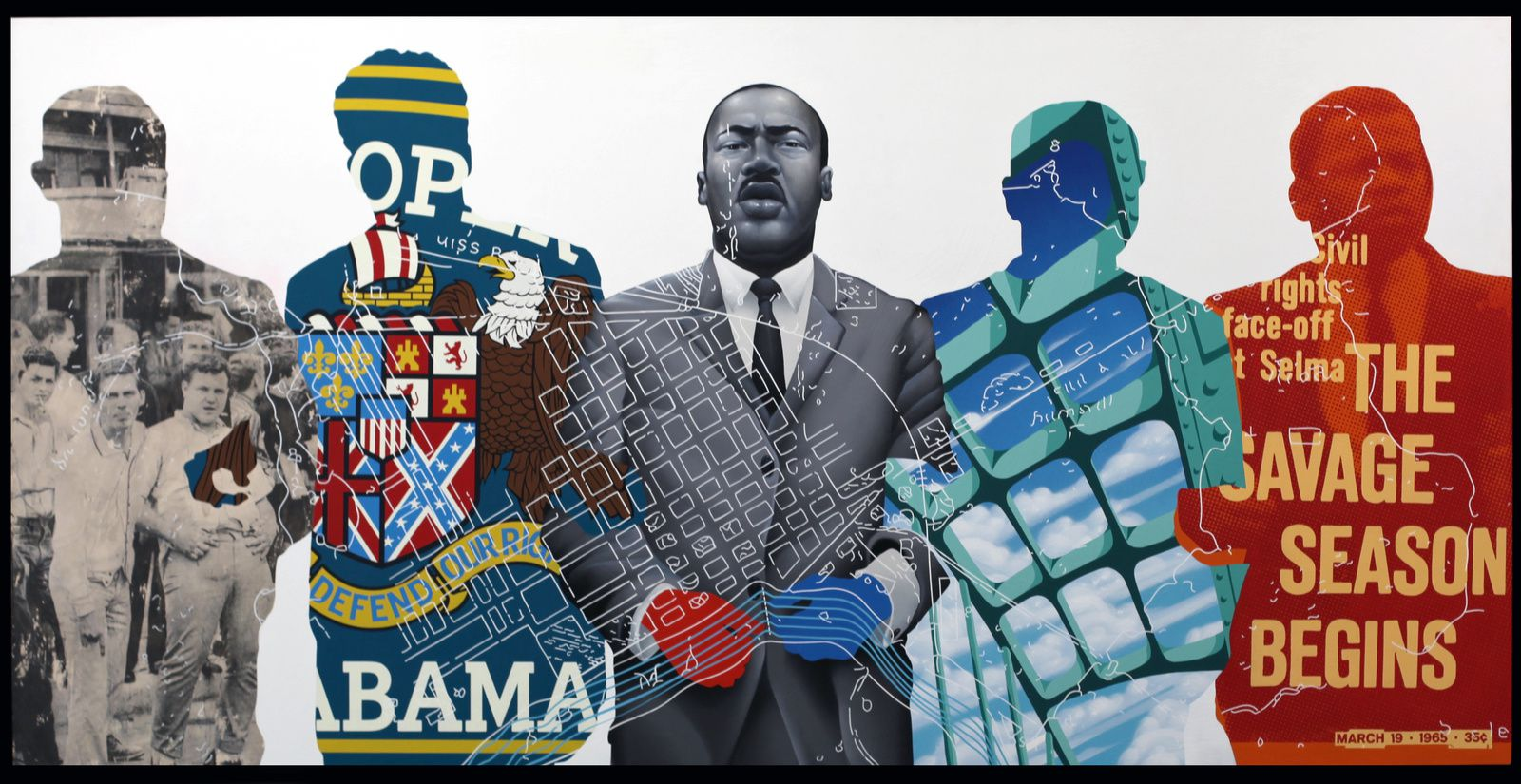 """The Selma March"" de Tristan EATON - Courtesy Galerie Itinerrance © Photo Éric Simon"