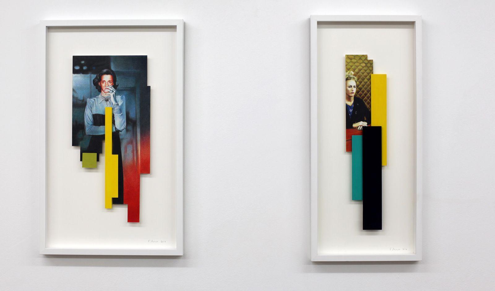 """""""Béatrice . Prager"""", 2016 et """"Julie"""", 2016 de France BIZOT - Courtesy BACKSLASH Gallery © Photo Éric Simon"""