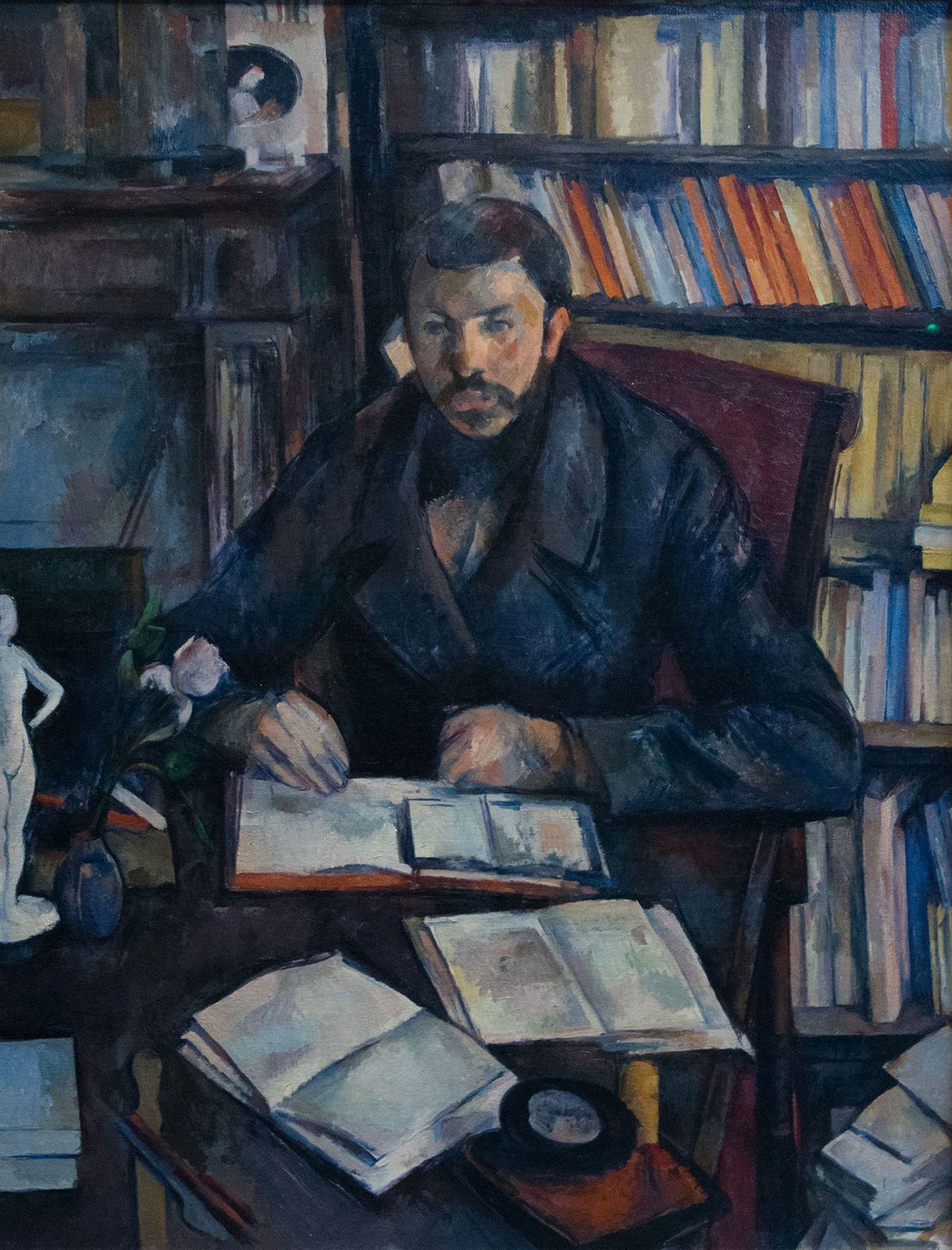 """""""Gustave Geffroy"""", entre 1895 et 1896 de Paul Cézanne - Courtesy Musée d'Orsay"""