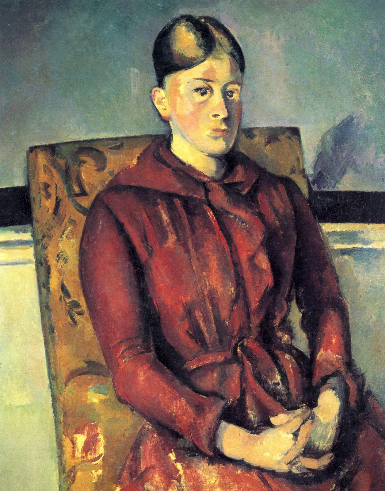 """""""Madame cézanne sur une chaise jaune"""", 1888-90 de Paul Cézanne - Courtesy Fondation Beyeler, Basel"""