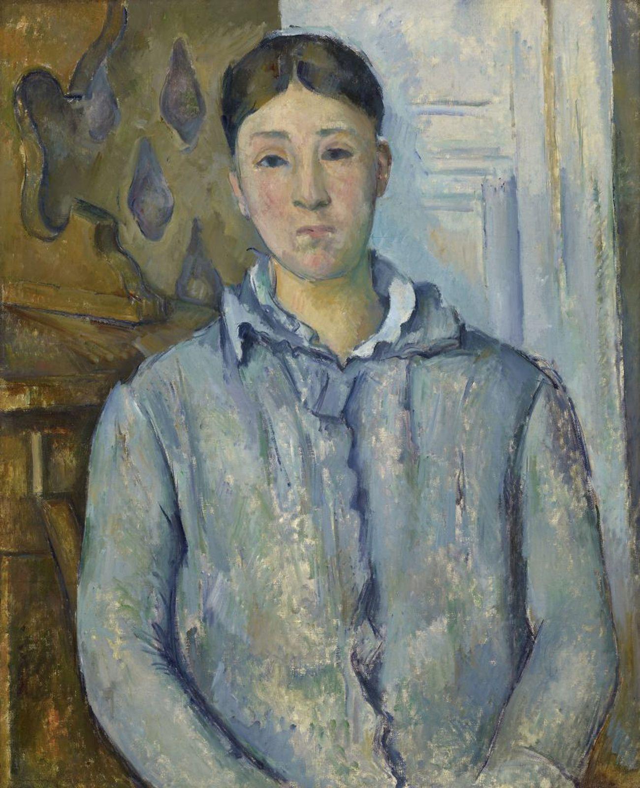 """""""Madame Cézanne in Blue"""", 1888–90 de Paul Cézanne - Courtesy the Museum of Fine Arts, Houston"""