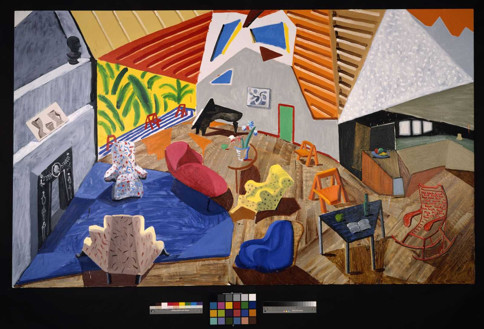 """Large Interior, Los Angeles"", 1988 de David HOCKNEY - Courtesy Collection Metropolitan Museum of Art, New York"