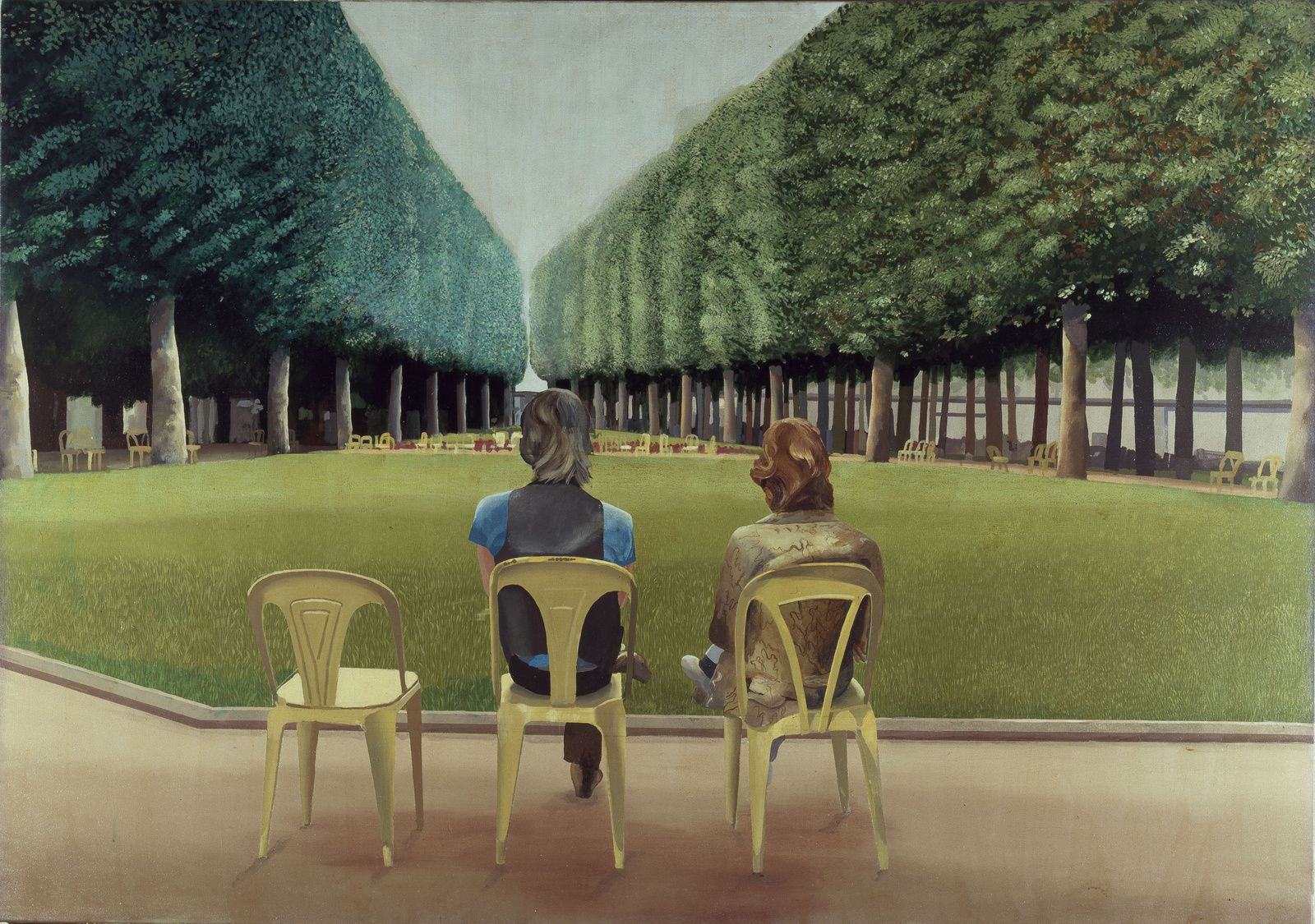 """Le parc des Sources, Vichy"", 1970 de David HOCKNEY - Photo Chatsworth House Trust"