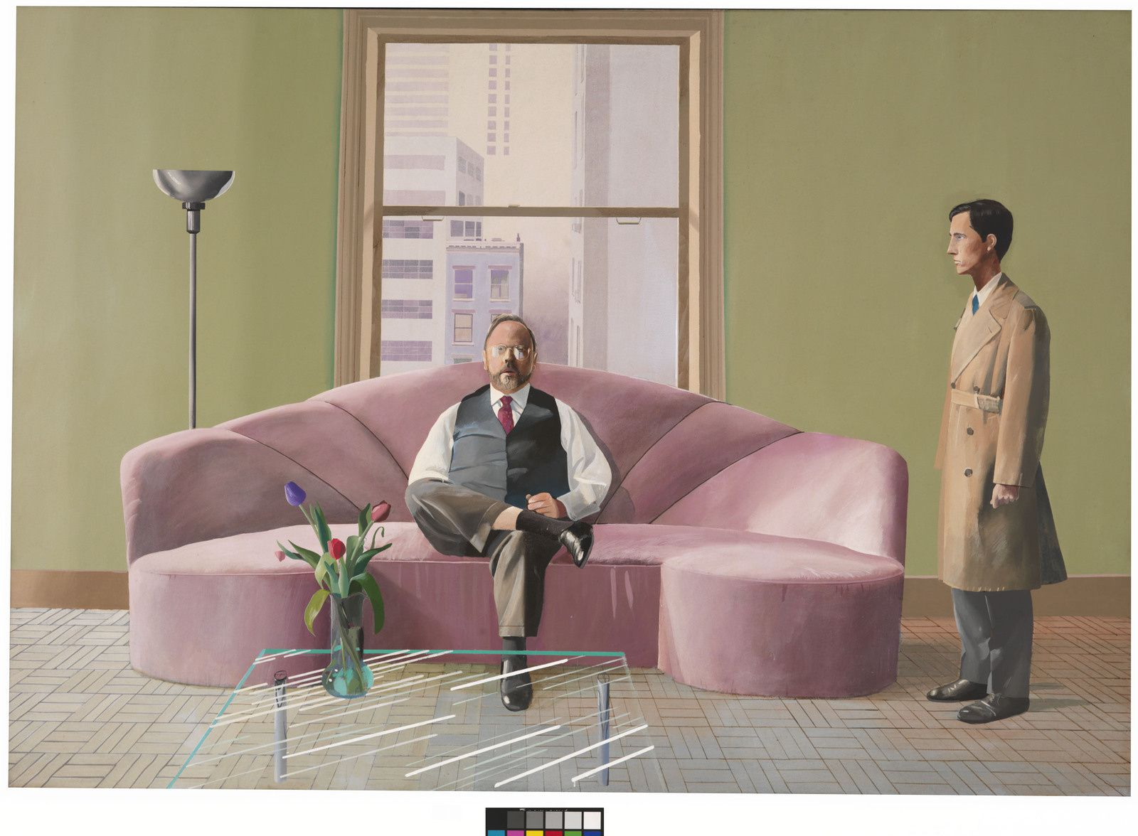 """Henri Geldzahler and Christopher Scott"", 1969 de David HOCKNEY"