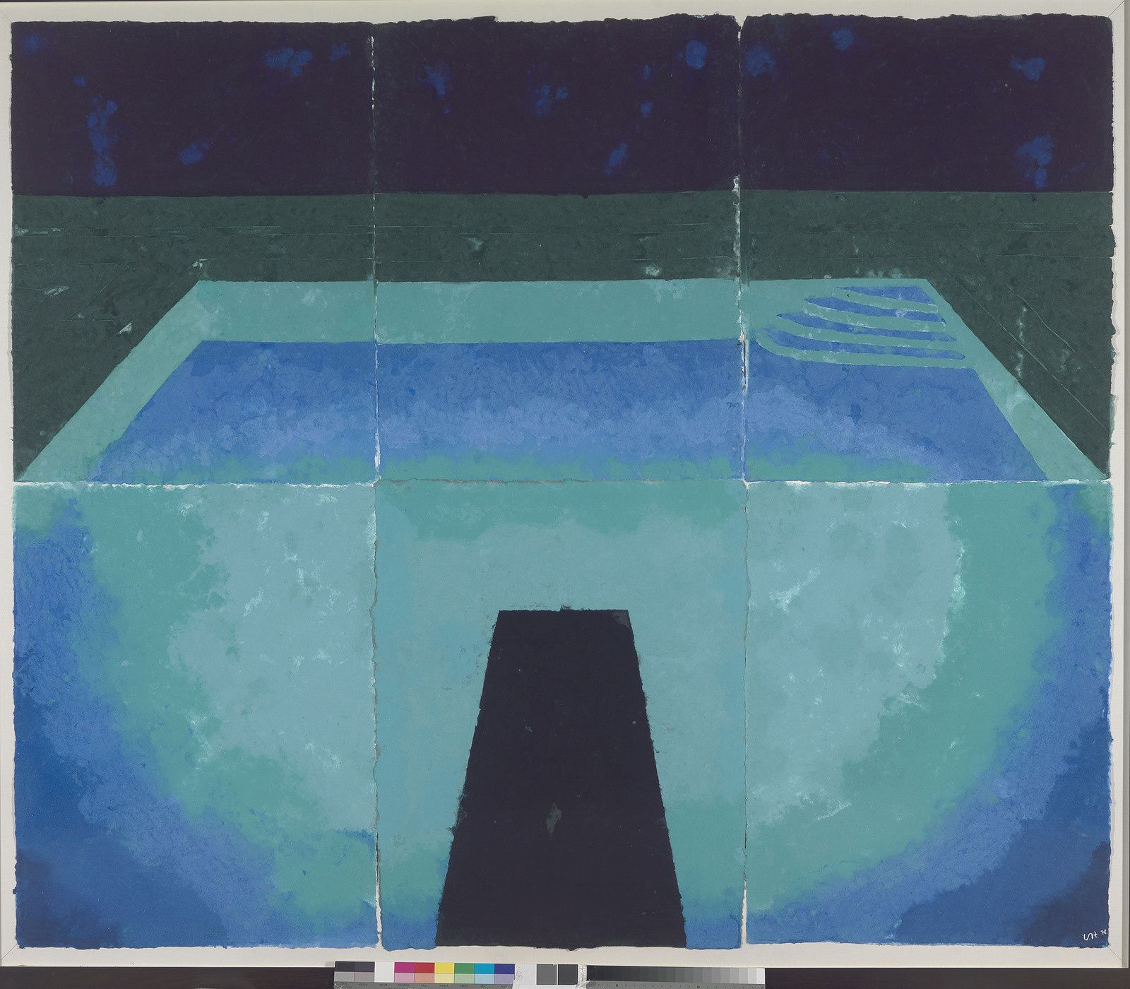 """Schwimmbad Mitternacht"", 1978 de David HOCKNEY - Courtesy Richard Schmidt"