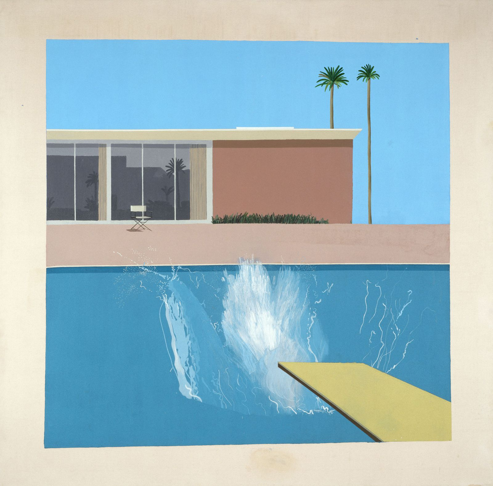 """A Bigger Splash"", 1967 de David HOCKNEY - Courtesy Collection Tate, London"