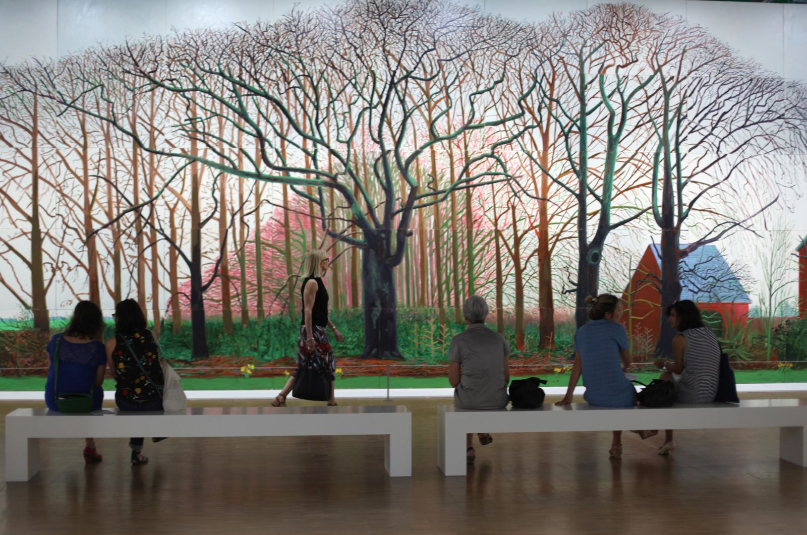 """Bigger Trees Near Warter"", 2007 de David HOCKNEY - Photo Éric Simon"
