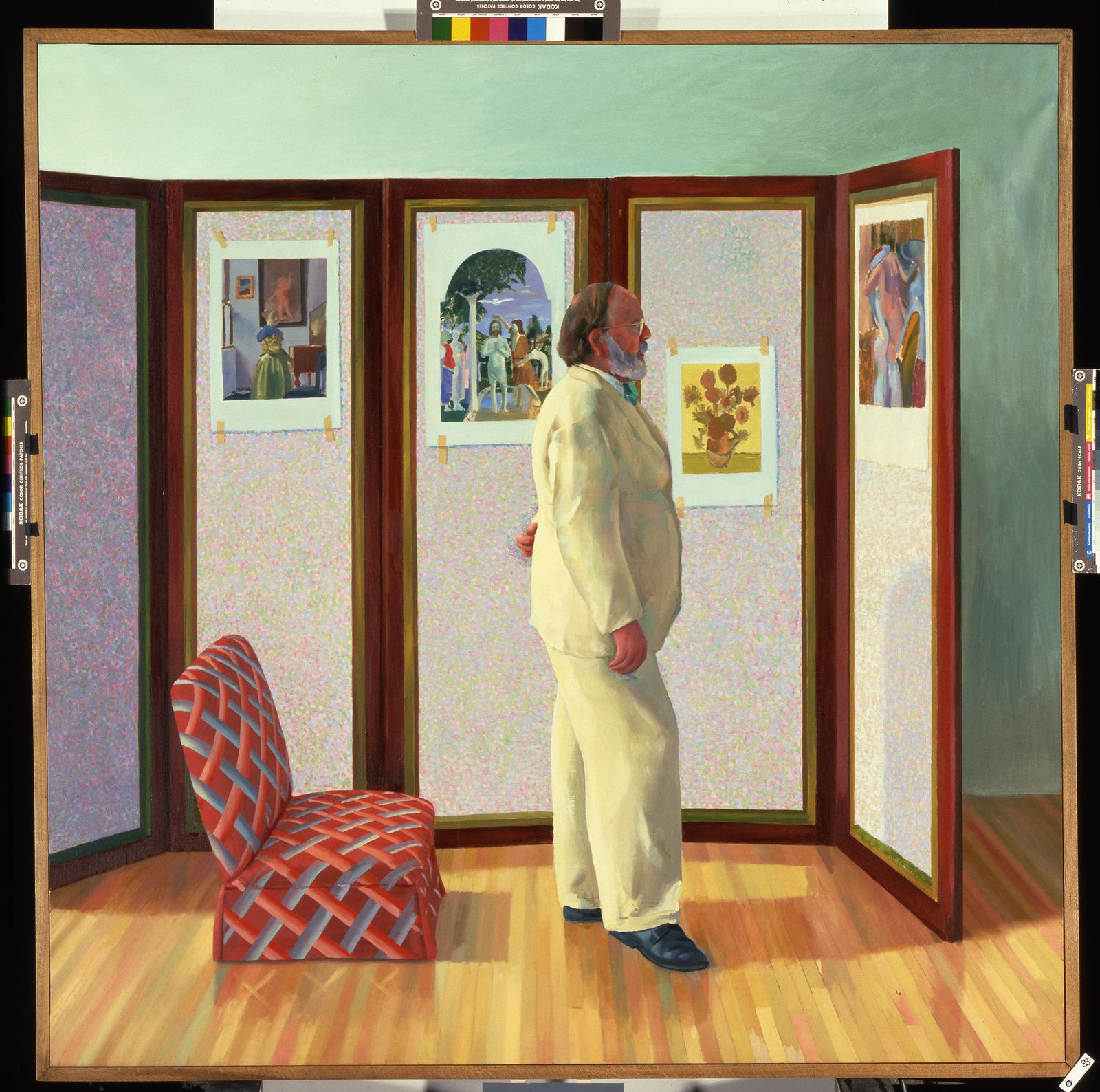 """Looking at Pictures on a screen"", 1977 de David HOCKNEY"