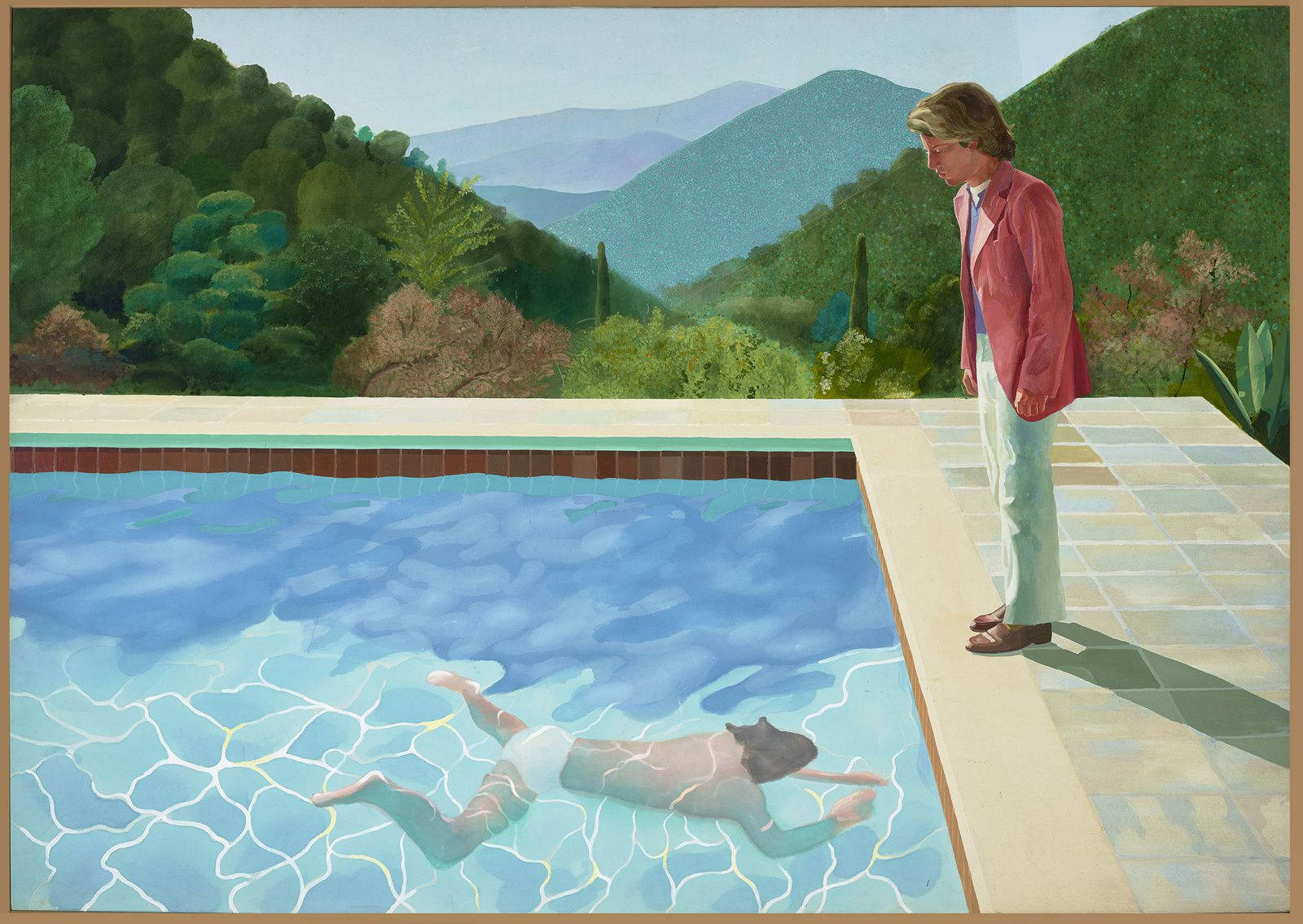 """Portrait d'un Artiste (Piscine avec deux personnages)"", 1972 de David HOCKNEY - Courtesy Art Gallery of New South Wales"