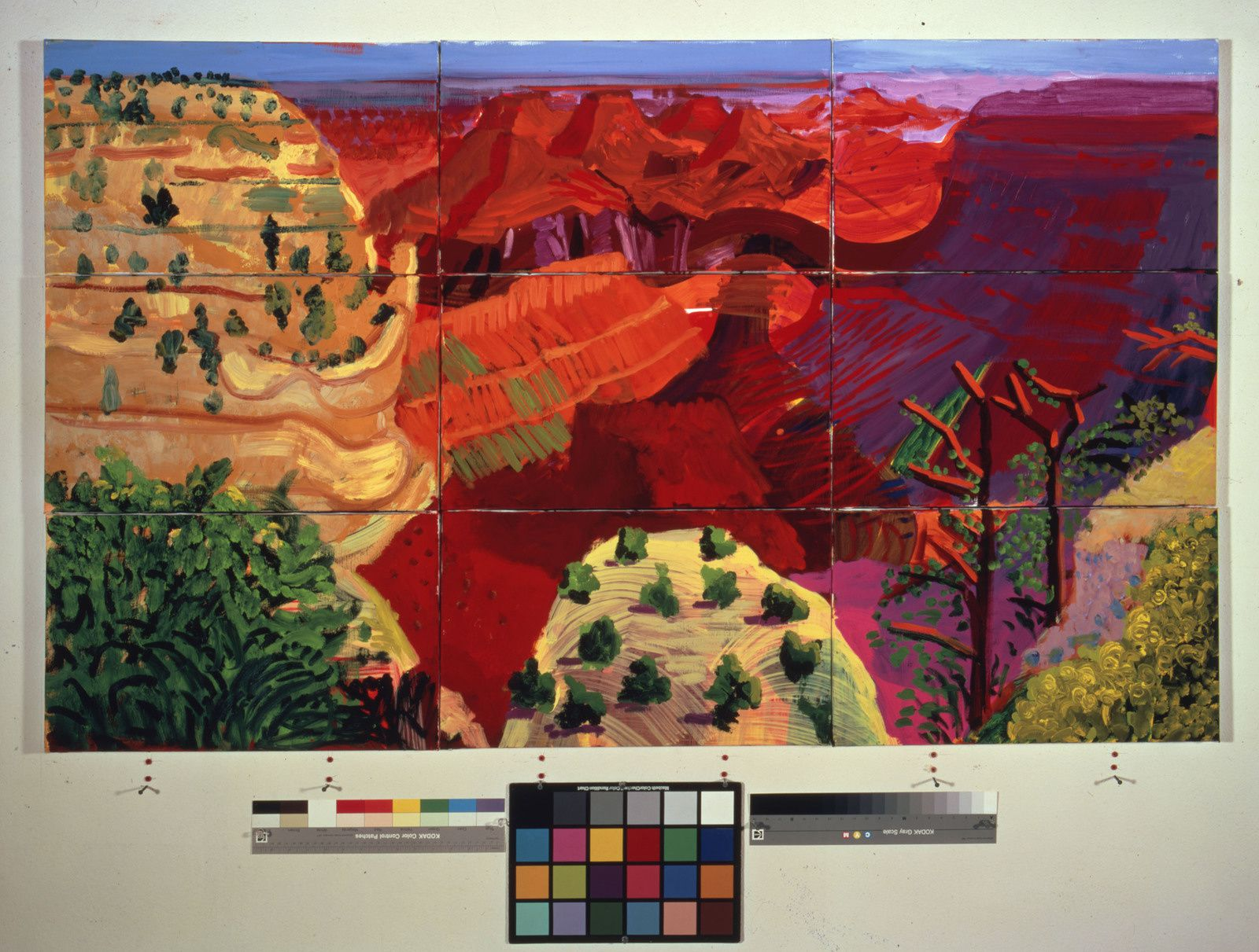 """9 Canvas Study of the Grand Canyon"", 1998 de David HOCKNEY - Photo Richard Schmidt"